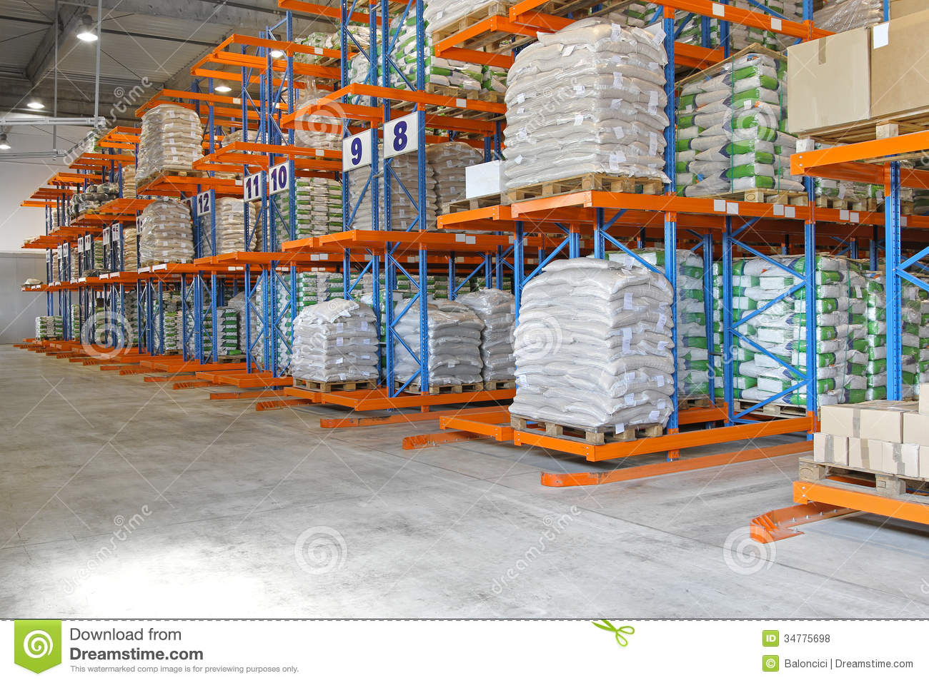 Shipping storage stock photo. Image of delivery ...