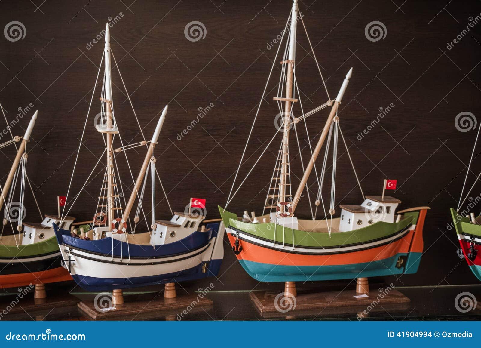 Ships modelo en una tienda de regalos