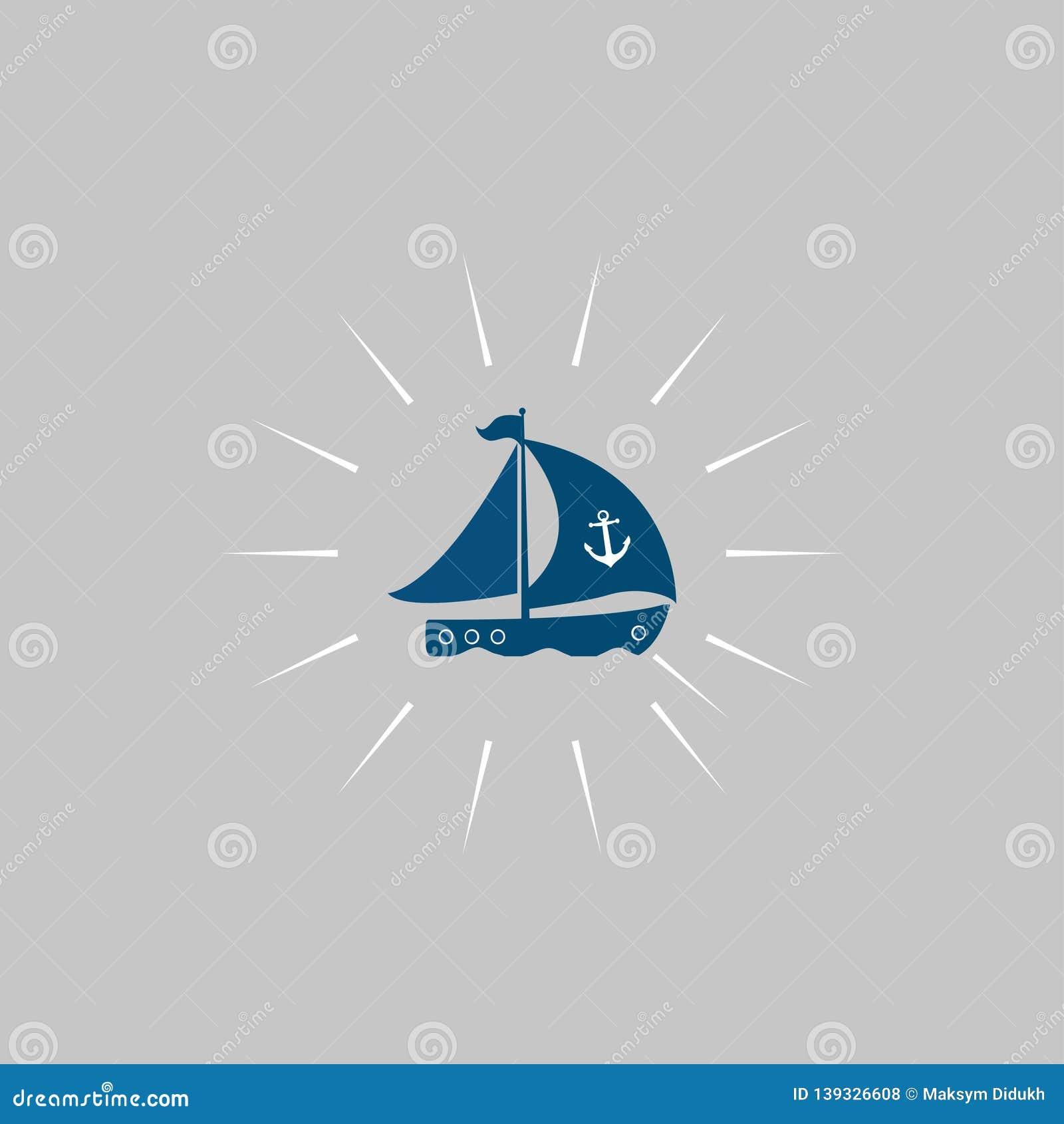Ships at sea. Ships icon. Vector illustration. EPS 10