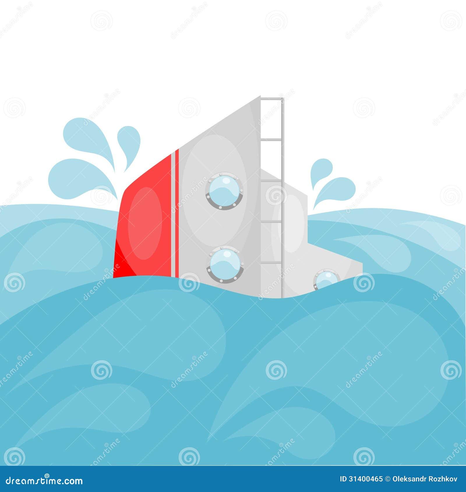Shipwreck Cartoon Eps10 Stock Vector Illustration Of