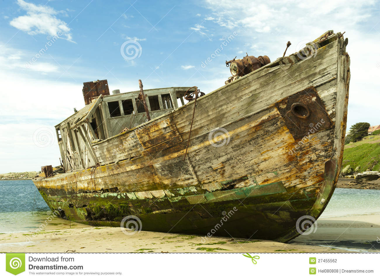 Shipwreck Of An Old Wooden Ship Stock Photography - Image: 27455562