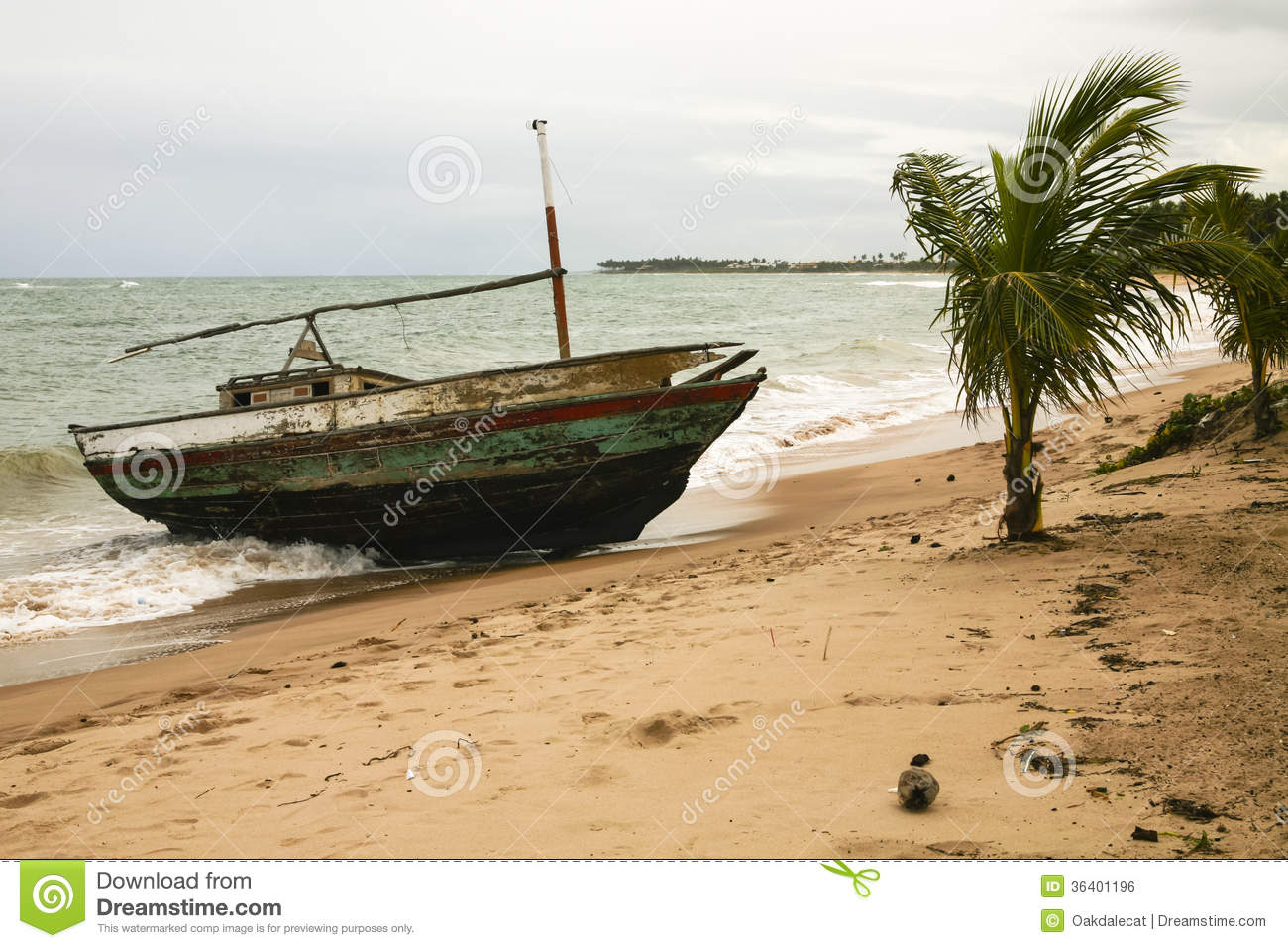 Palm Beach Tan Prices >> Shipwrecked, Worn Boat In A Storm Royalty Free Stock Image ...