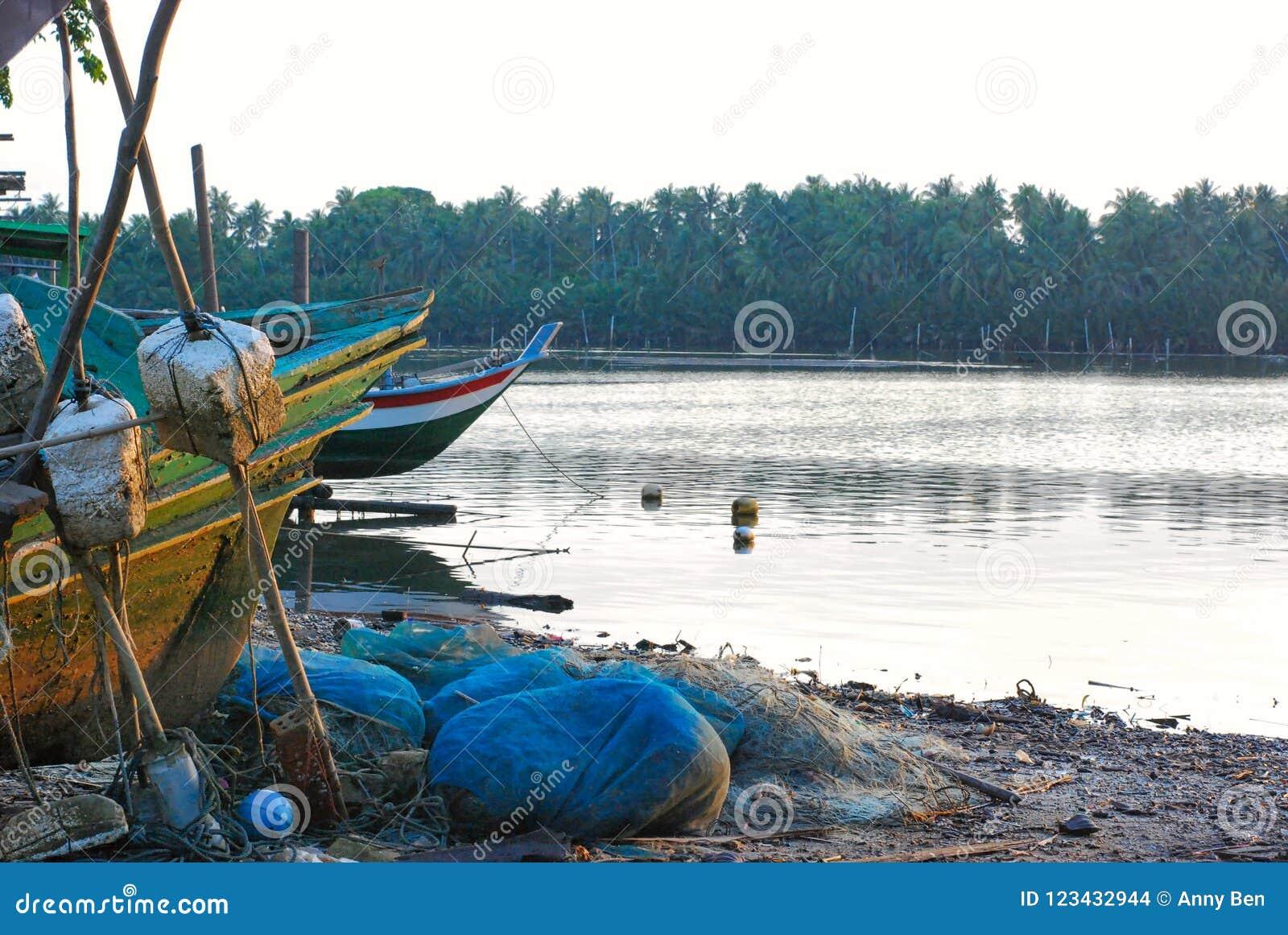 Shipwrecks at riverside