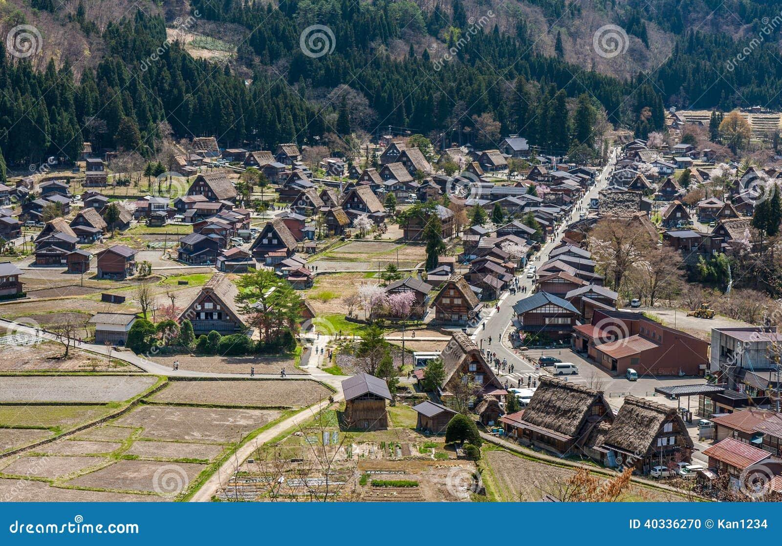 shirakawa vont la ville japonaise traditionnelle japon photo stock image 40336270. Black Bedroom Furniture Sets. Home Design Ideas