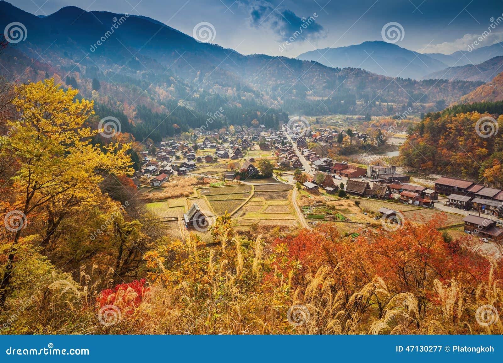 Shirakawa-vont le village en préfecture de Gifu, Japon