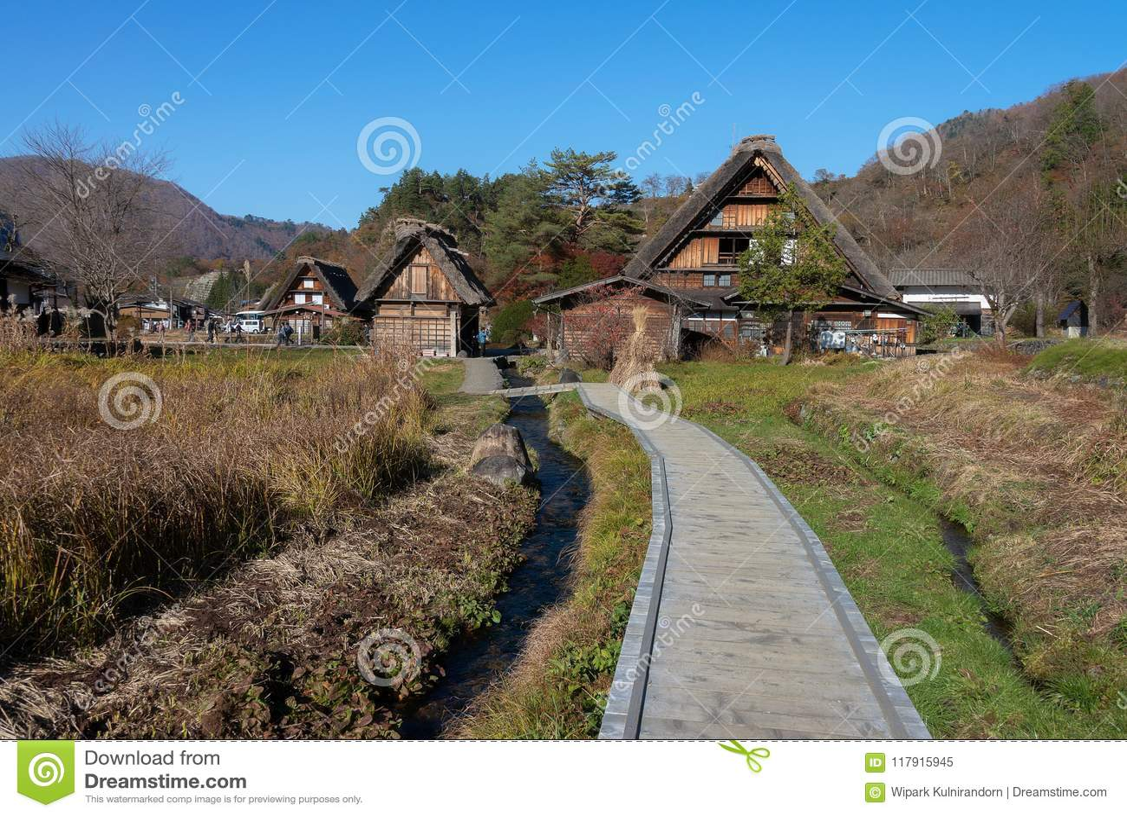 Shirakawago , beautiful village in the valley.