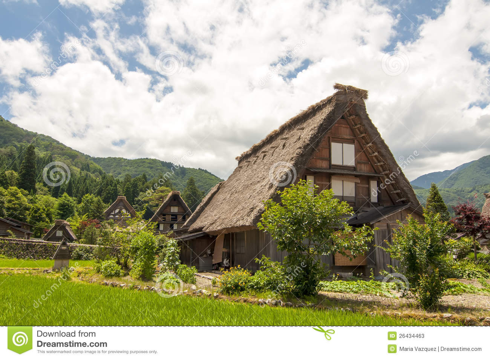 Shirakawago village, Japan stock image. Image of tourism ...