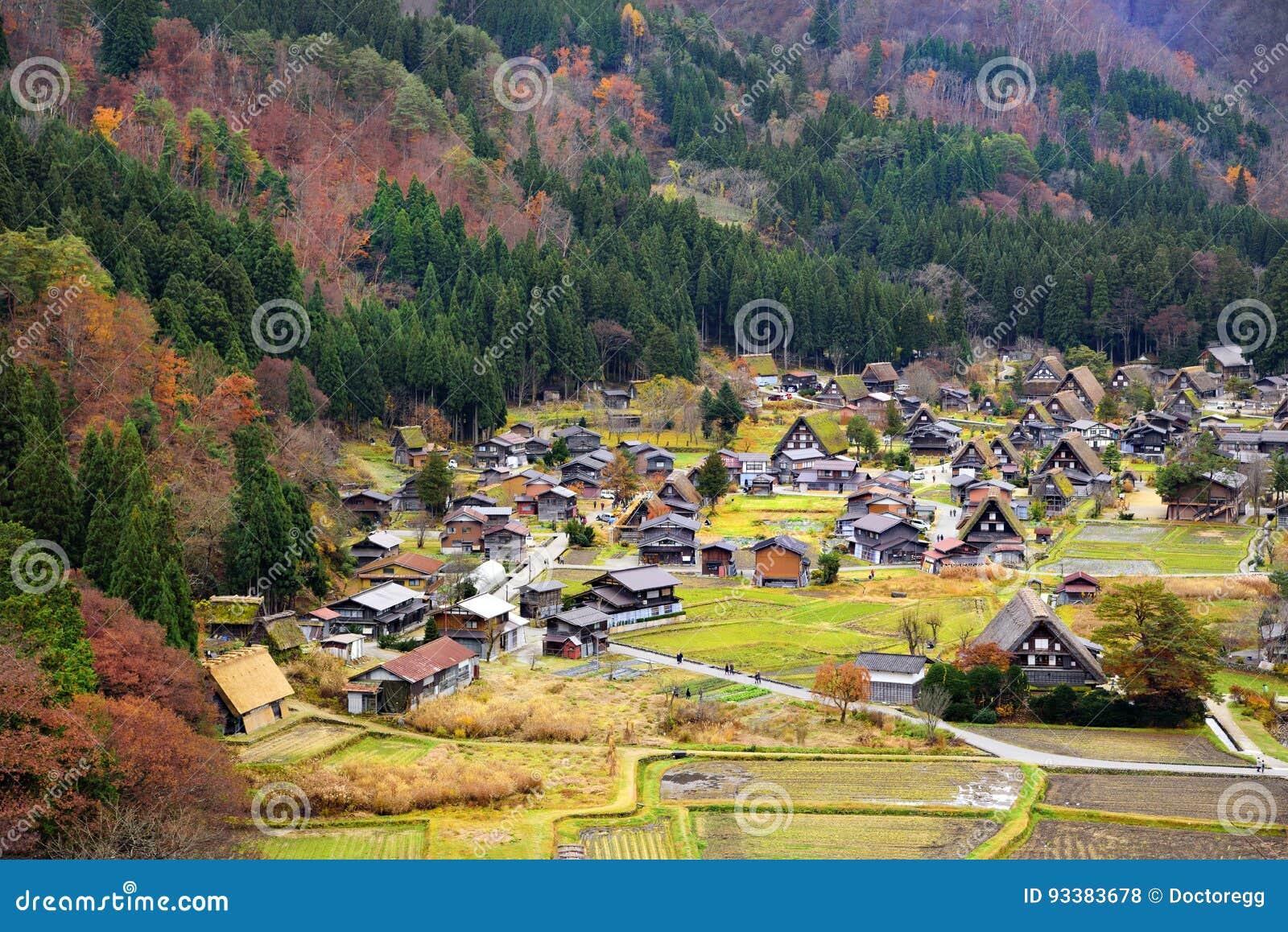 Shirakawago World Heritage Village In Colourful Autumn ...