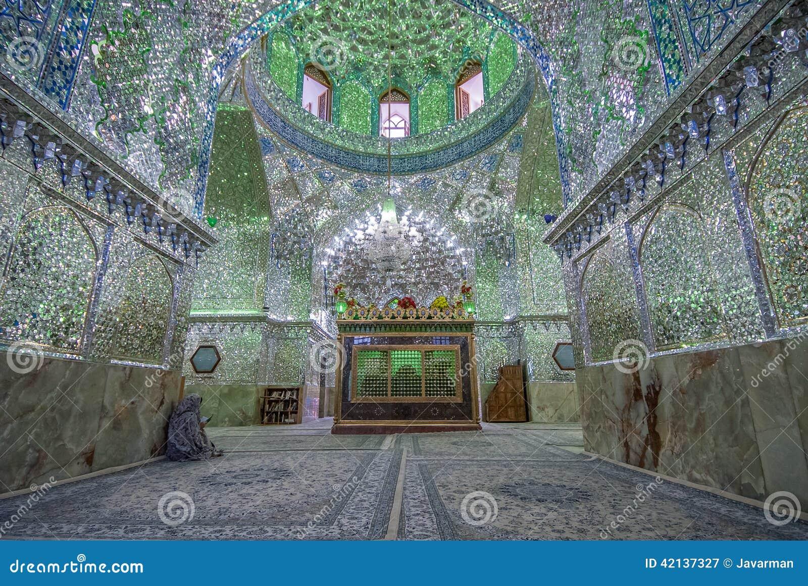 Shiraz Iran May 08 2007 Mirrored Mosque In Shiraz