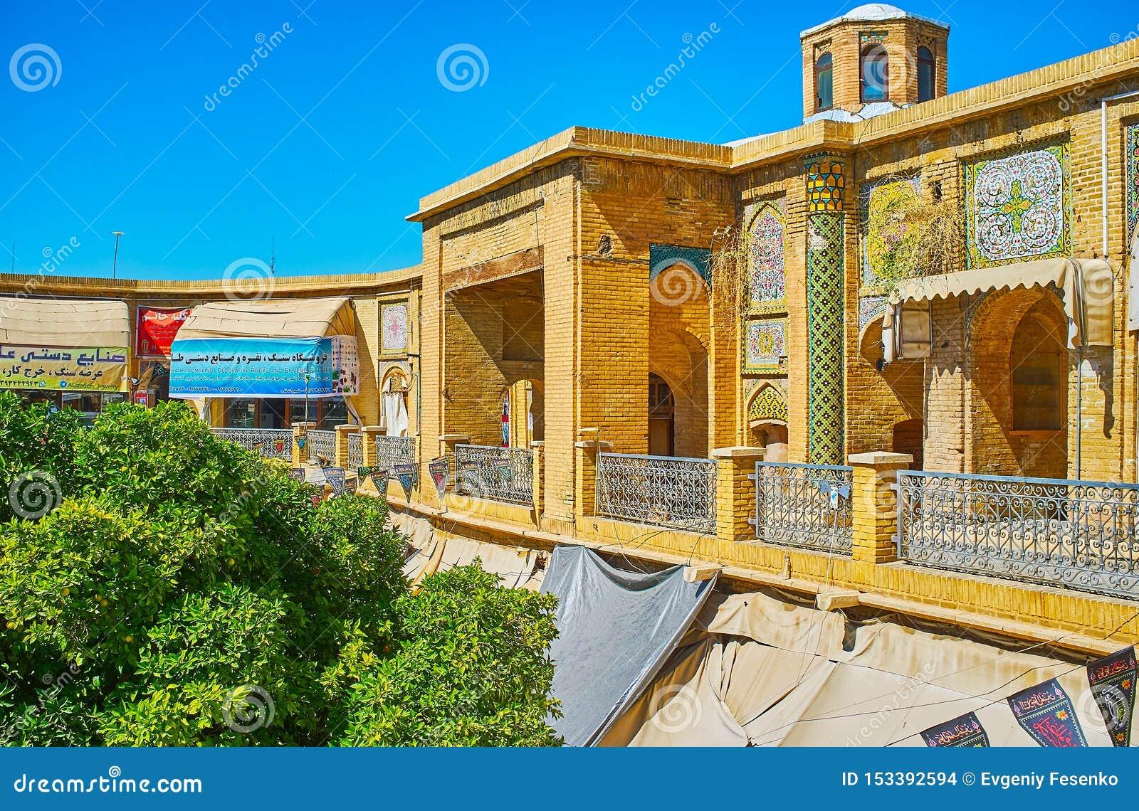 The portal of Saraye Moshir Bazaar, Shiraz, Iran