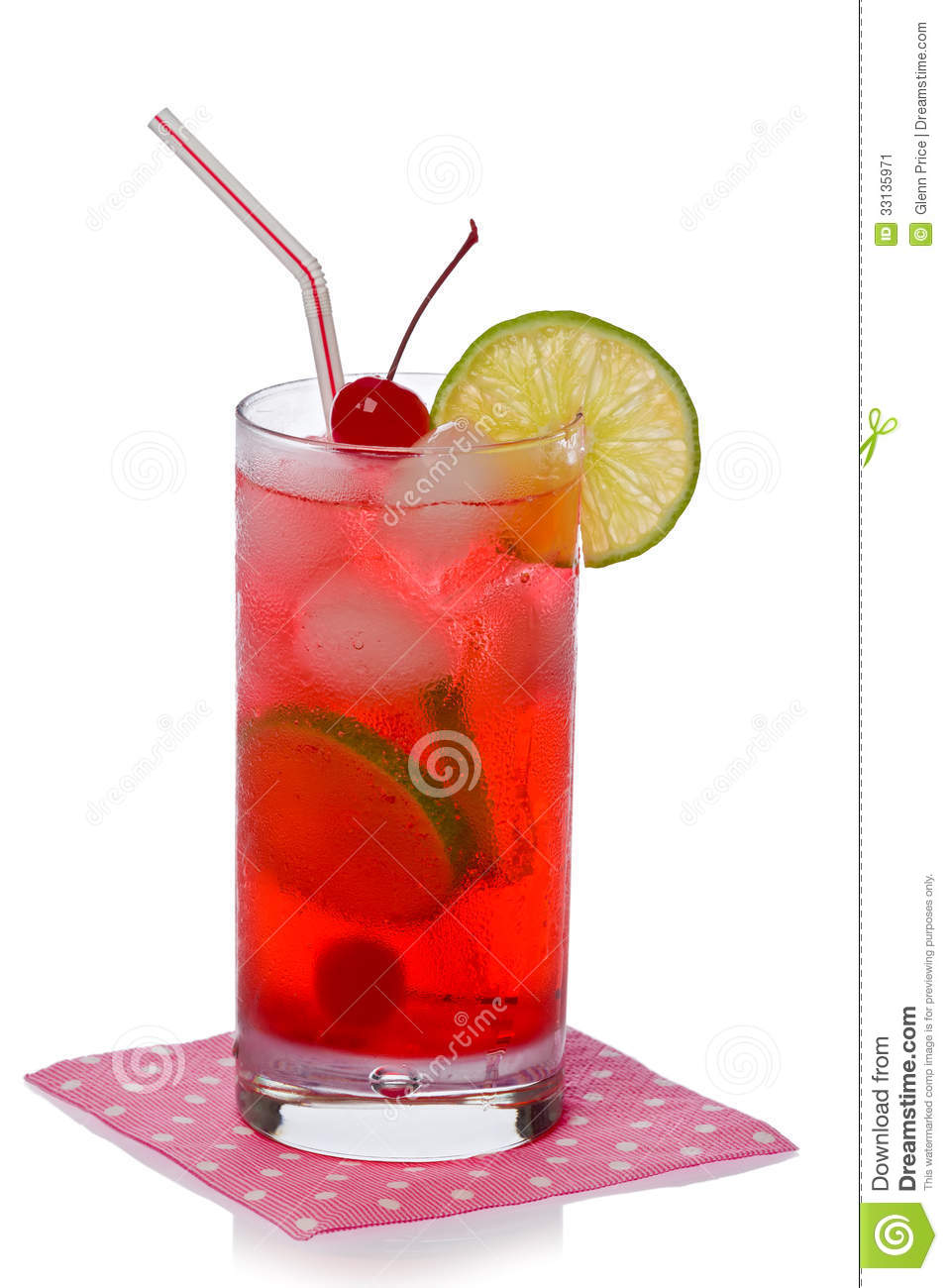 Shirley temple cocktail drink stock image image of for Cool alcoholic drink names