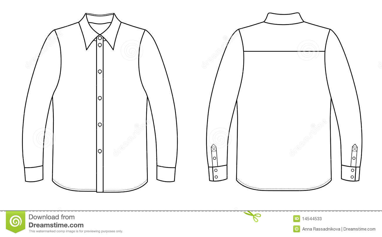 shirt stock vector illustration of graphic  casual White Button Shirt Clip Art free button down shirt vector