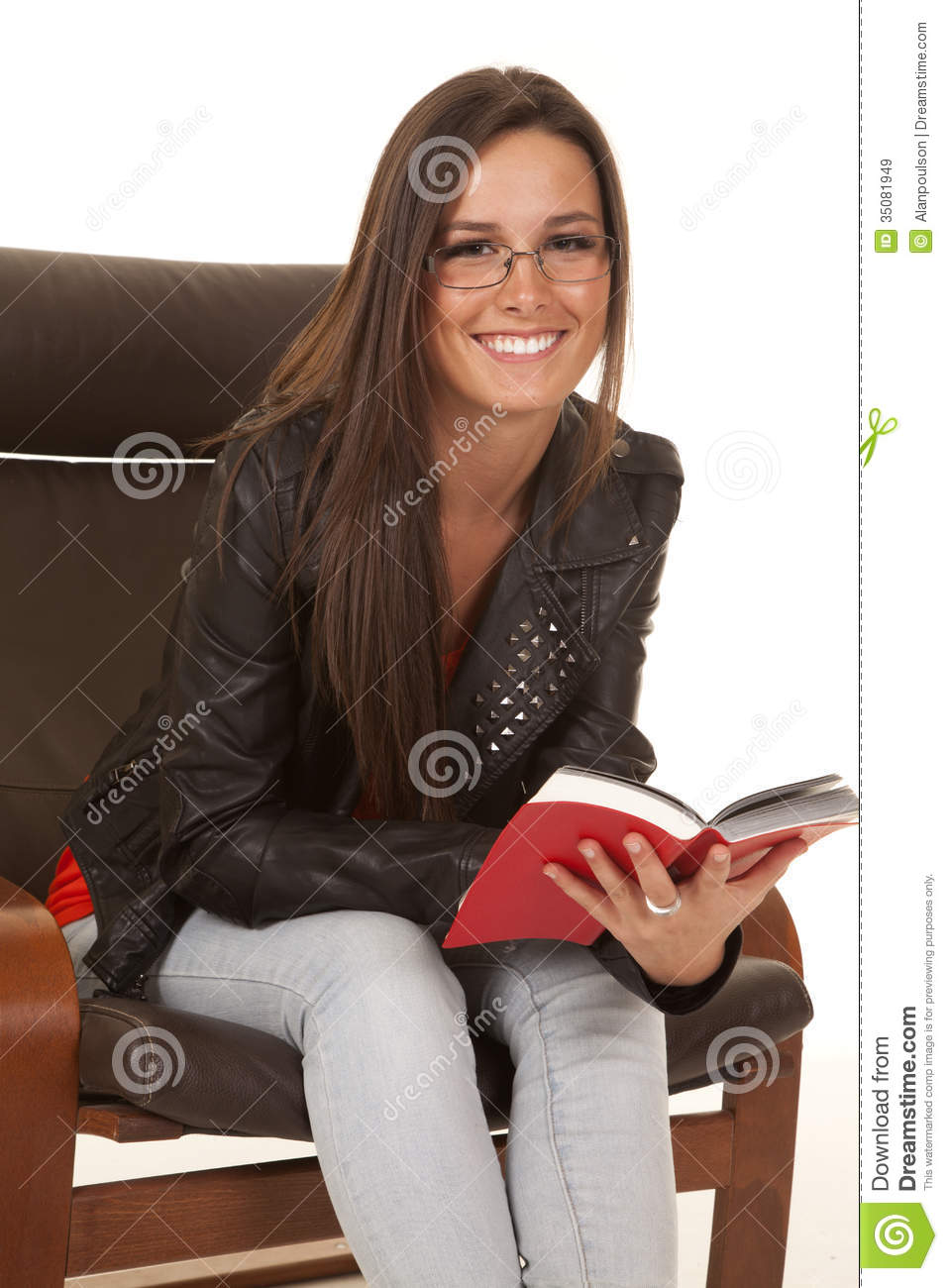 Jacket Sit Read Happy Royalty Free Stock Images Image 35081949