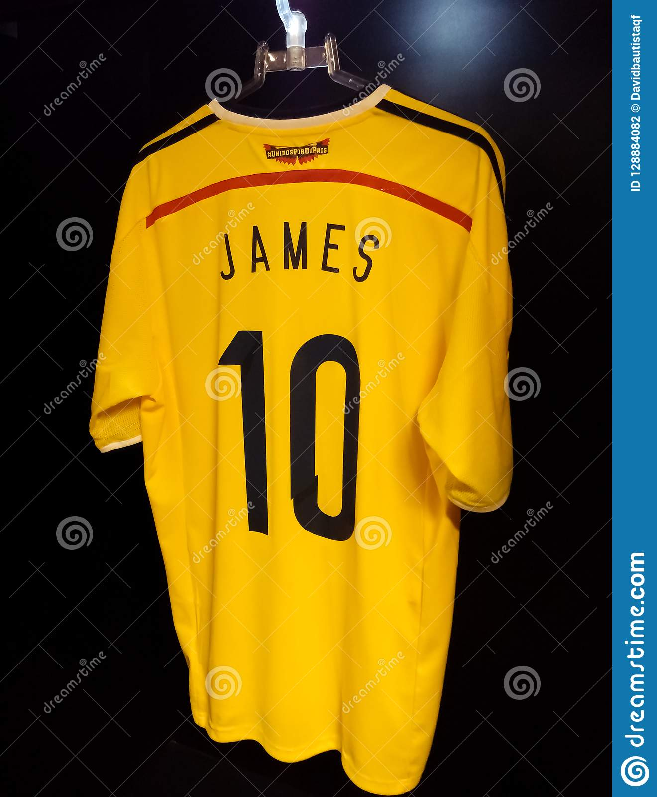 new style ad826 e31e2 Shirt Of The Colombian Soccer National Team. 10, James ...