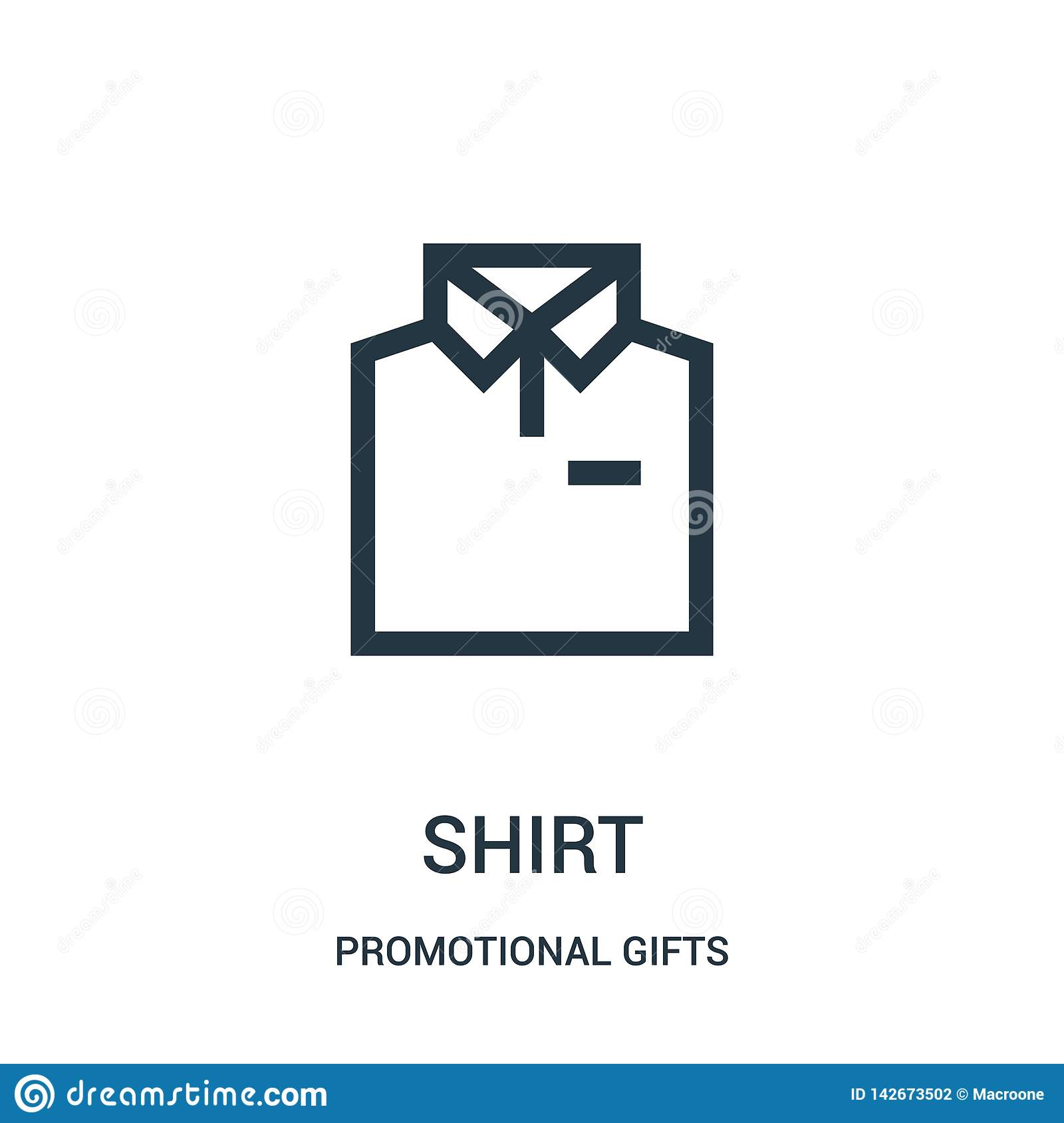 shirt icon vector from promotional gifts collection. Thin line shirt outline icon vector illustration. Linear symbol for use on