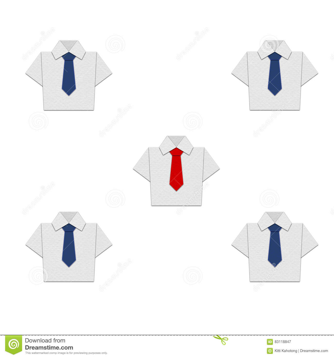 Shirt origami with tie vector design stock illustration shirt origami with tie vector design jeuxipadfo Gallery