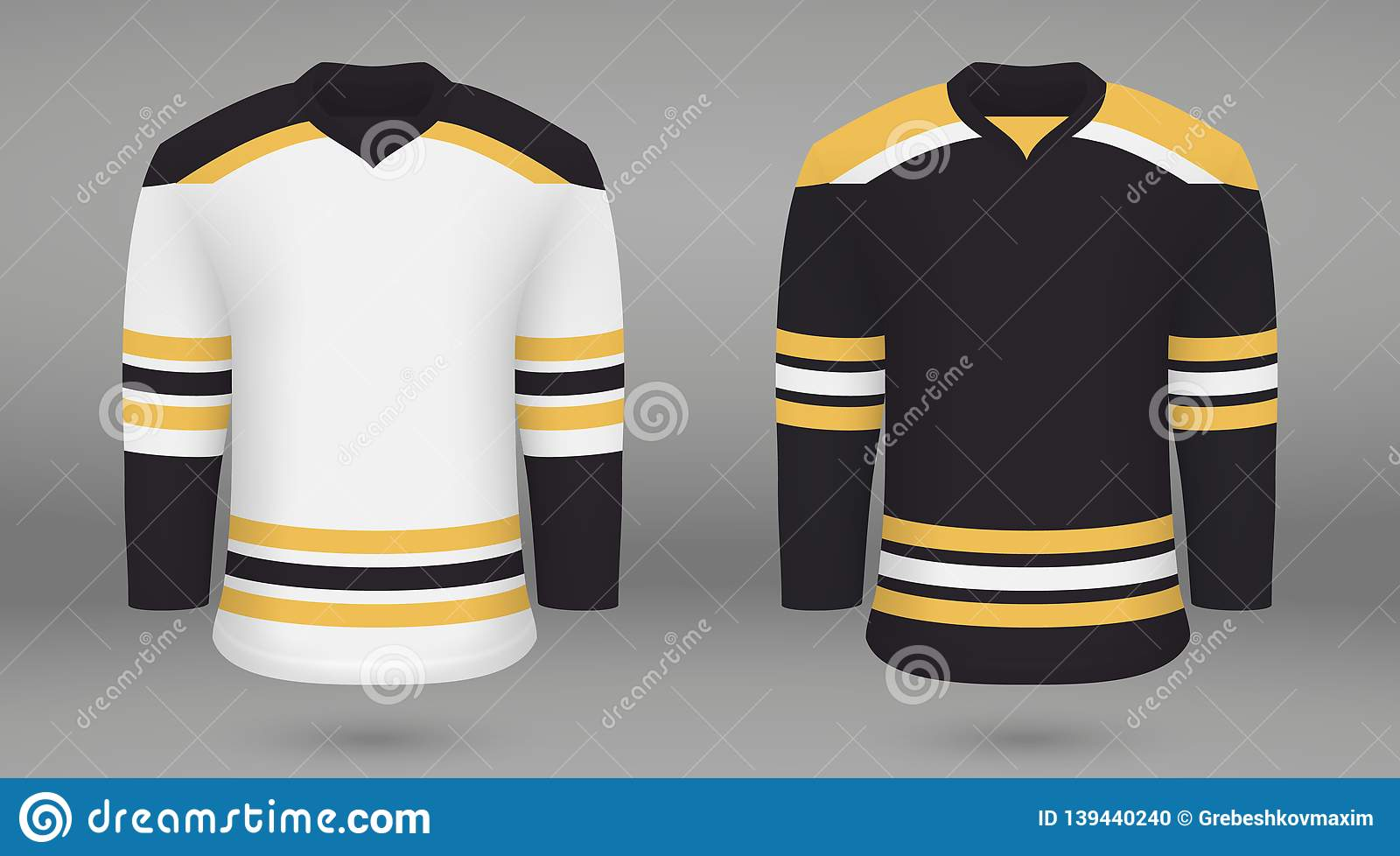 size 40 c3230 7701d Shirt Template Forice Hockey Jersey Stock Illustration ...