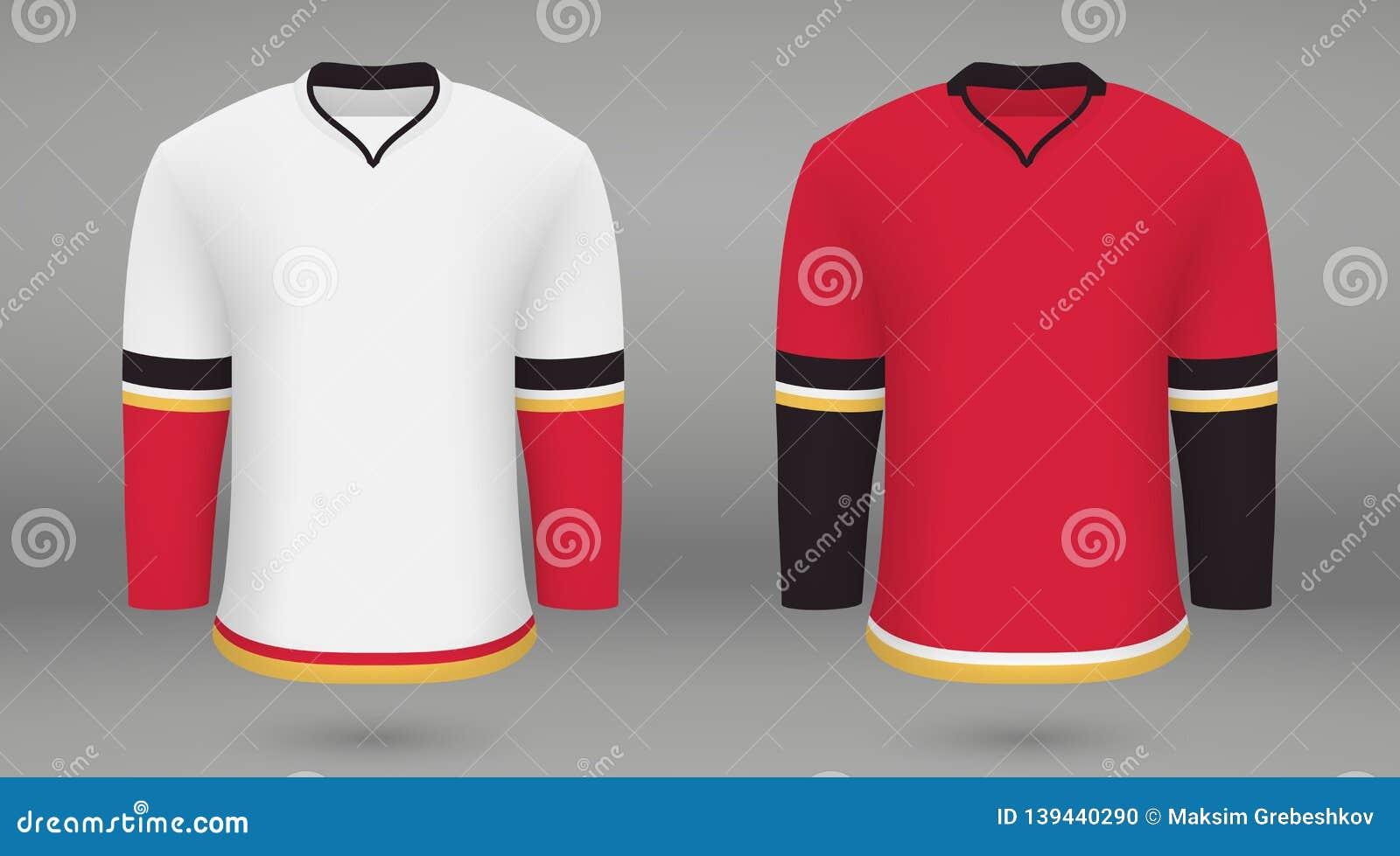 size 40 dc17d a63e8 Shirt Template Forice Hockey Jersey Stock Illustration ...