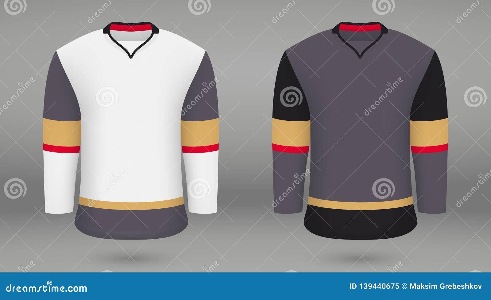 size 40 703a1 01fcb Shirt Template Forice Hockey Jersey Stock Illustration ...