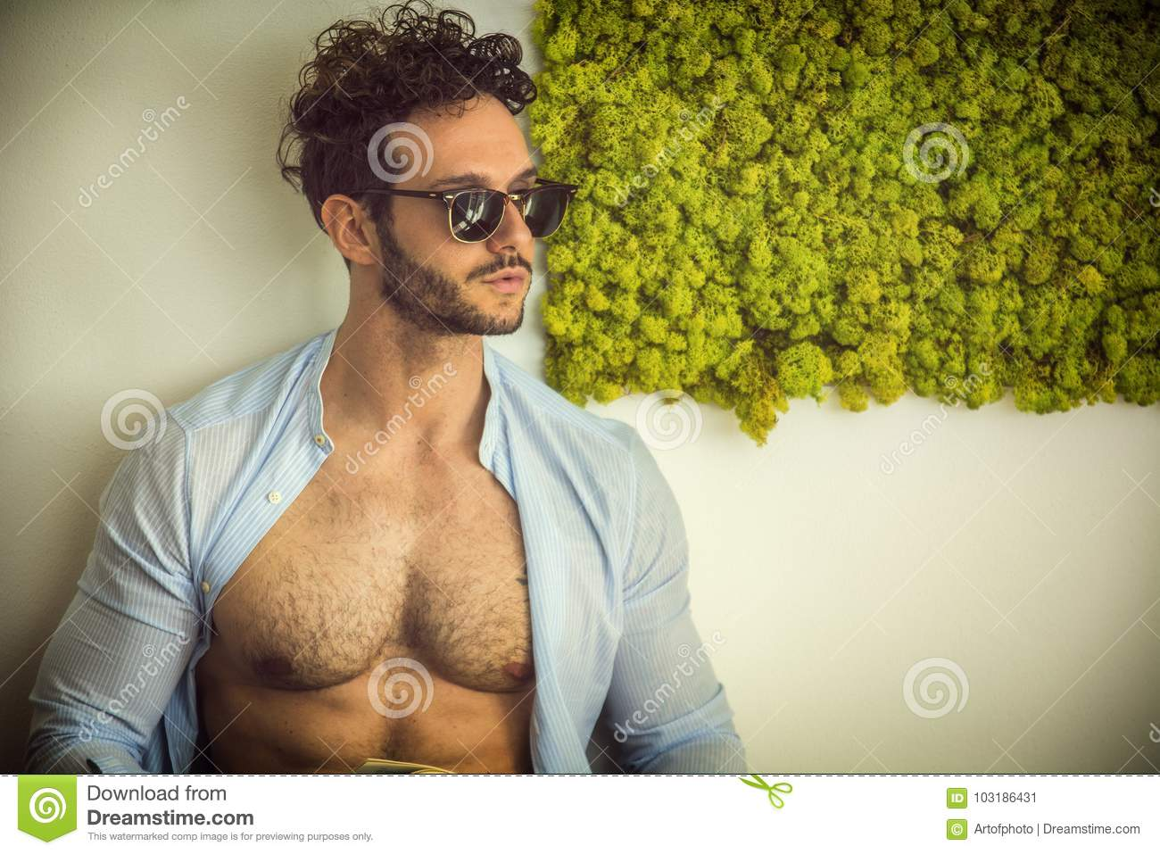Sexy hairy male models