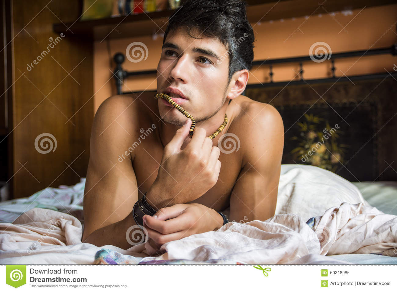 Sexy Boy Alone At Home
