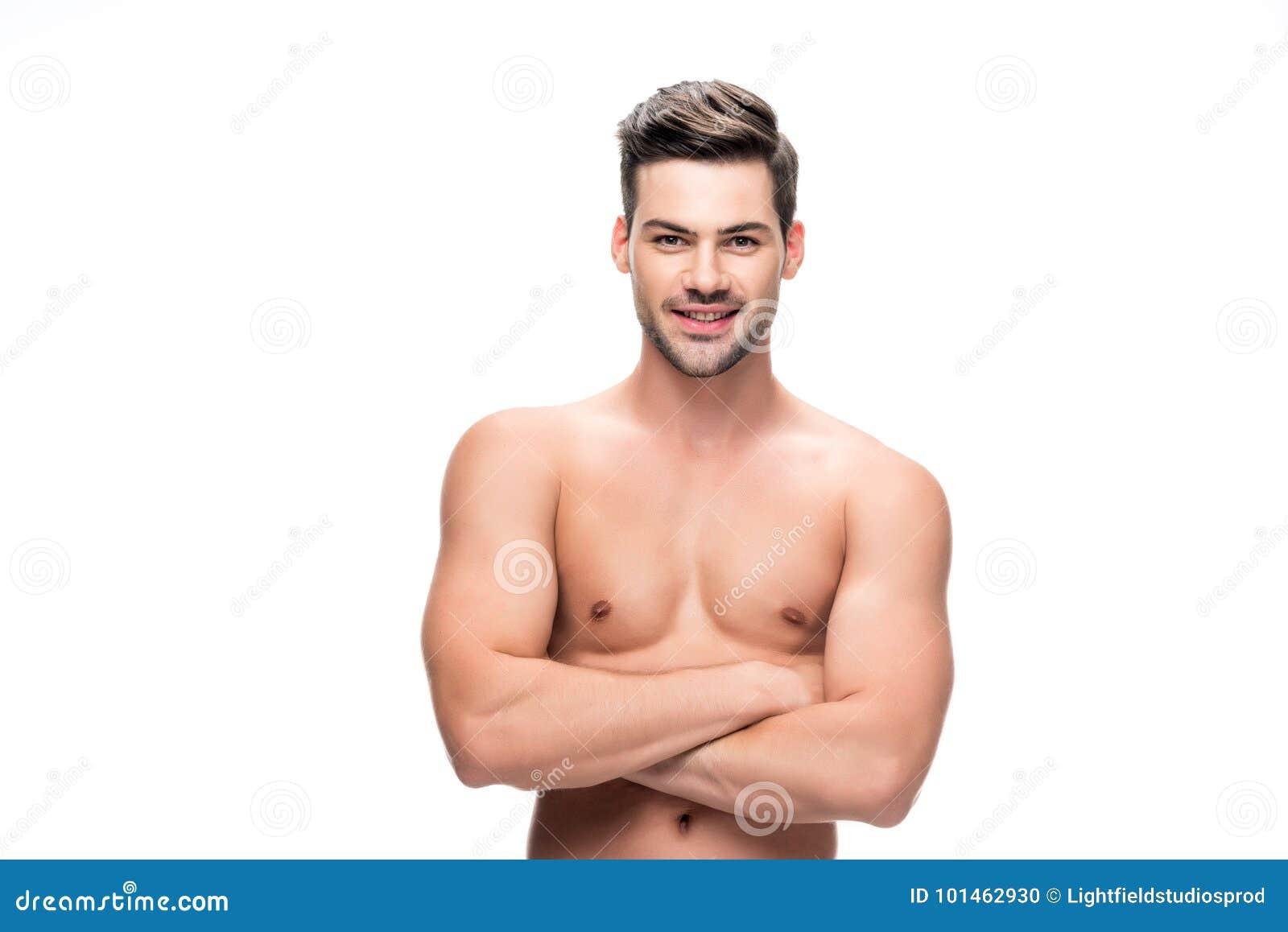 Shirtless stilig man
