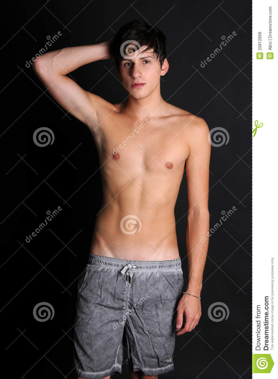 Shirtless Teenager Stock Photo Image Of Sport Young