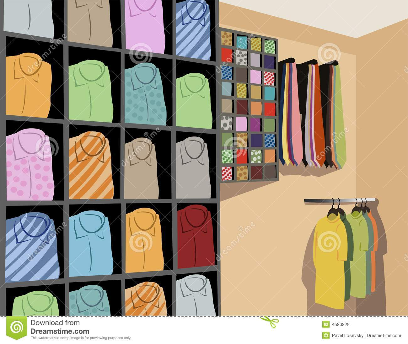 Shirts In Store Vector Royalty Free Stock Images - Image ...