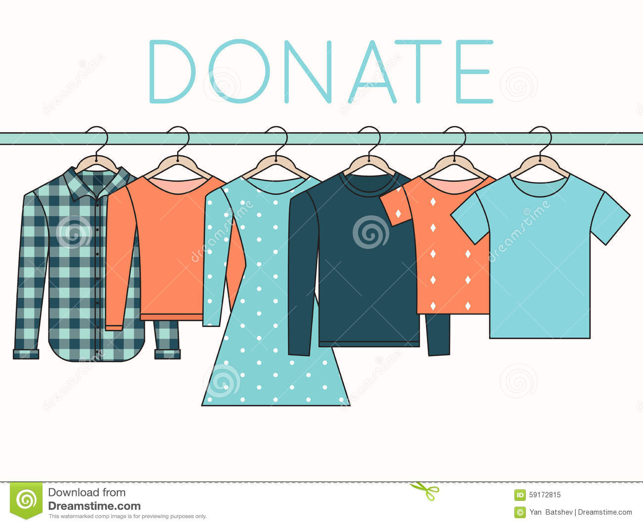 Shirts sweatshirts and dress on hangers donate clothes for Shirts that donate to charity