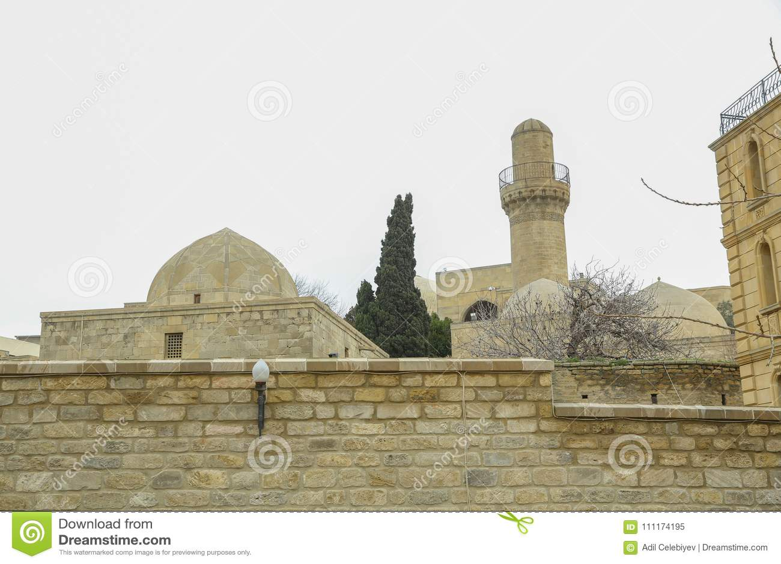 Shirvanshah kervansaray в Баку, Азербайджане Старая мечеть в Баку, старая мечеть, старая мечеть в sheher Icheri
