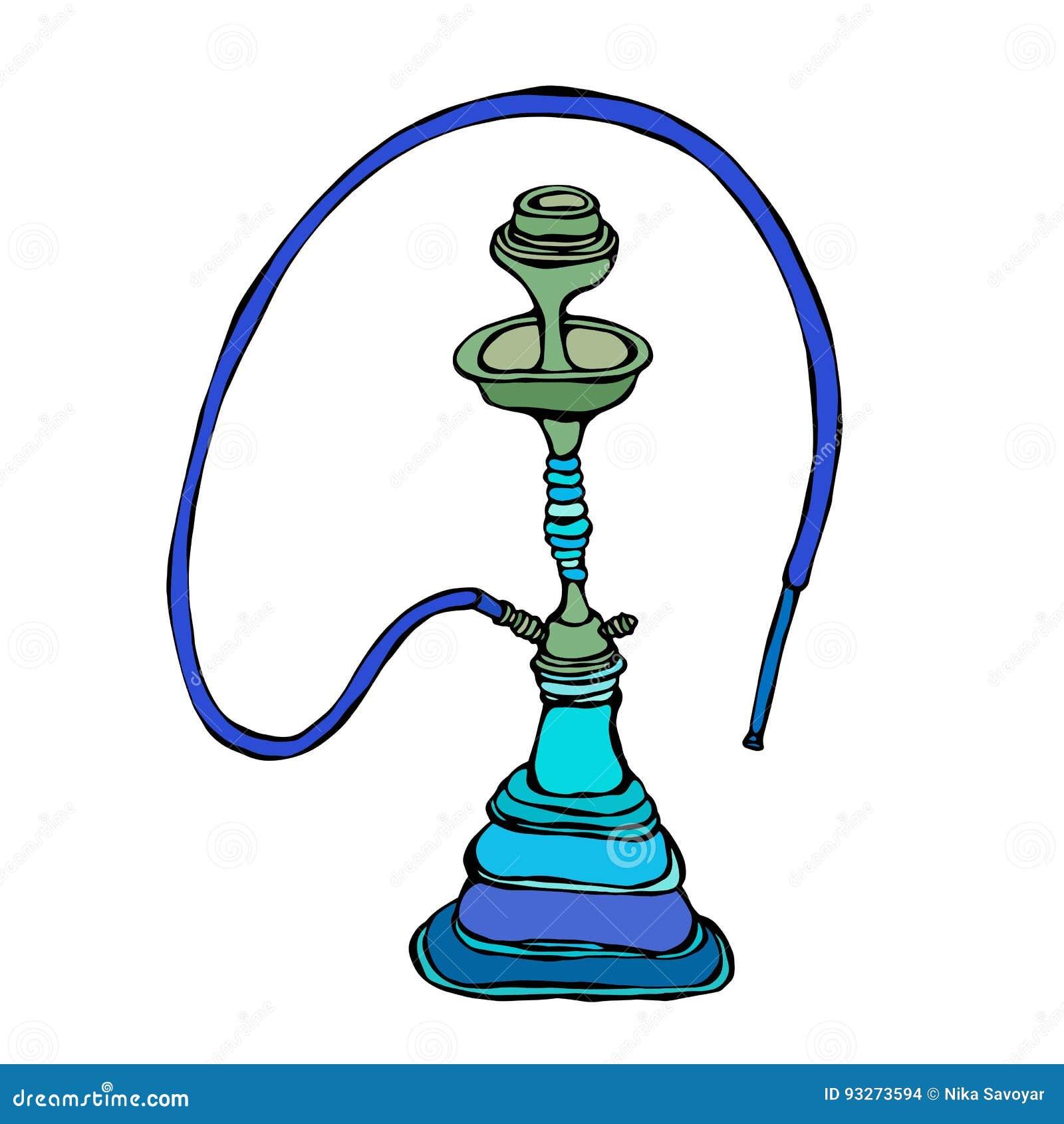shisha  bong  hooka  hookah with smoking pipe  oriental hookah vector free hookah vector eps
