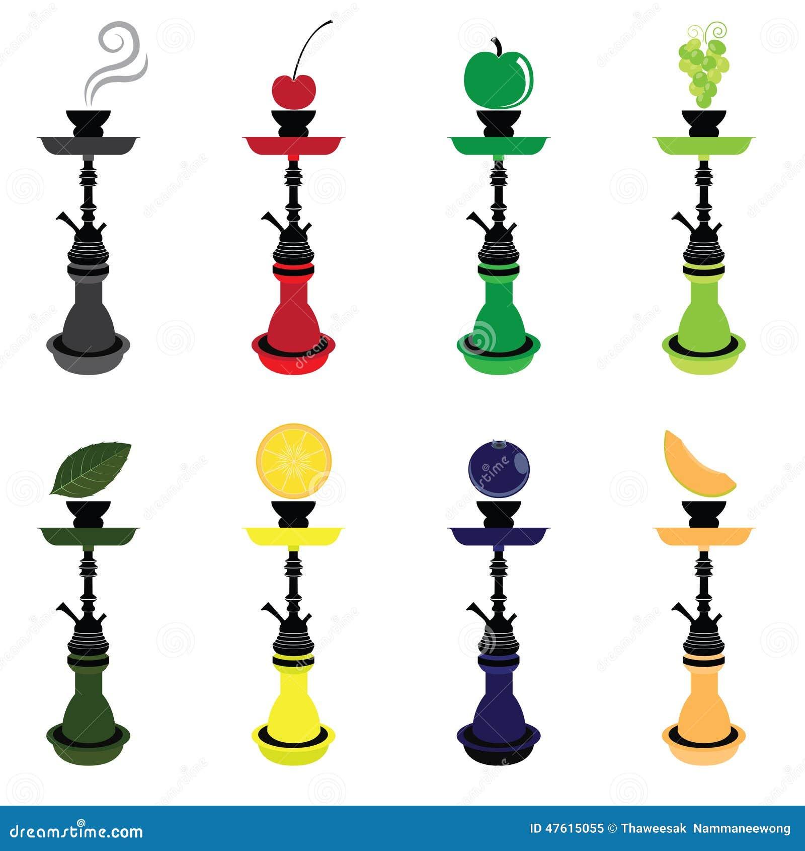 shisha hookah smoking lovers stock vector image 47615055 hookah vector download hookah vector free