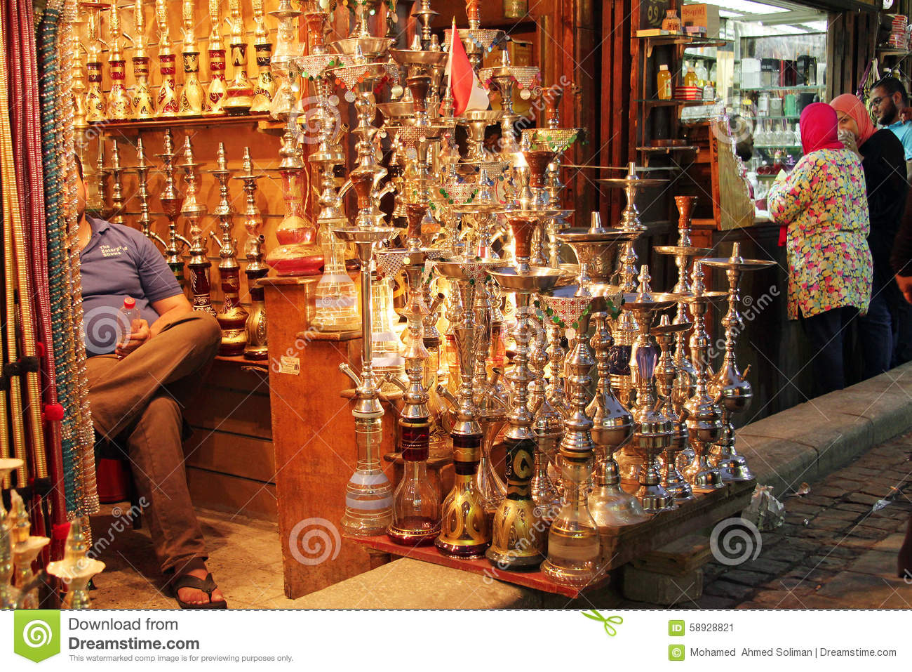 Antiques In Old Market In Cairo In Egypt In Africa