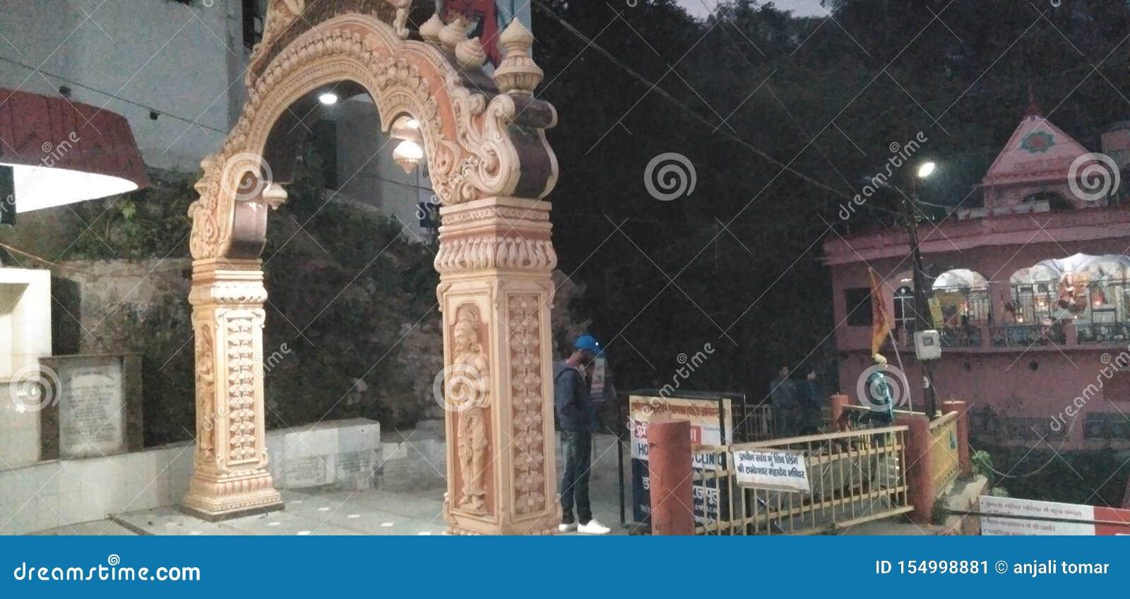This image Shiv temple in india dehradun uttarakhand