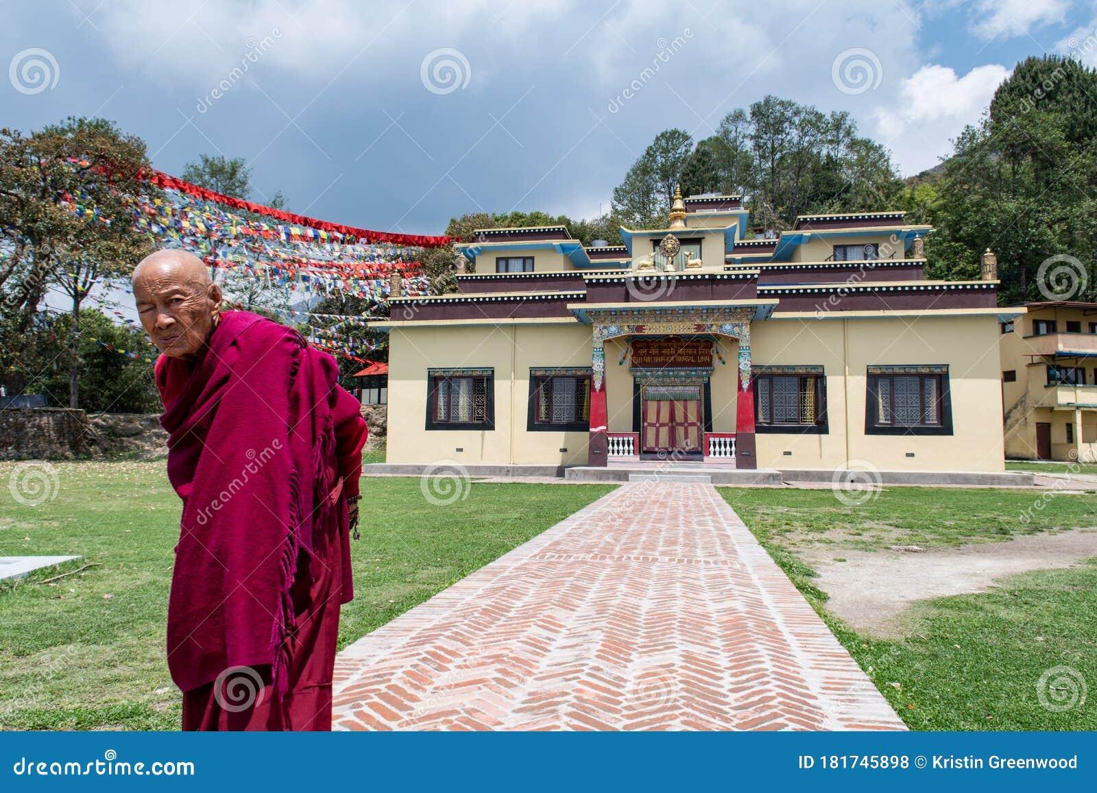 Old Buddhist Nun In Kathmandu, Nepal Editorial Photo ...