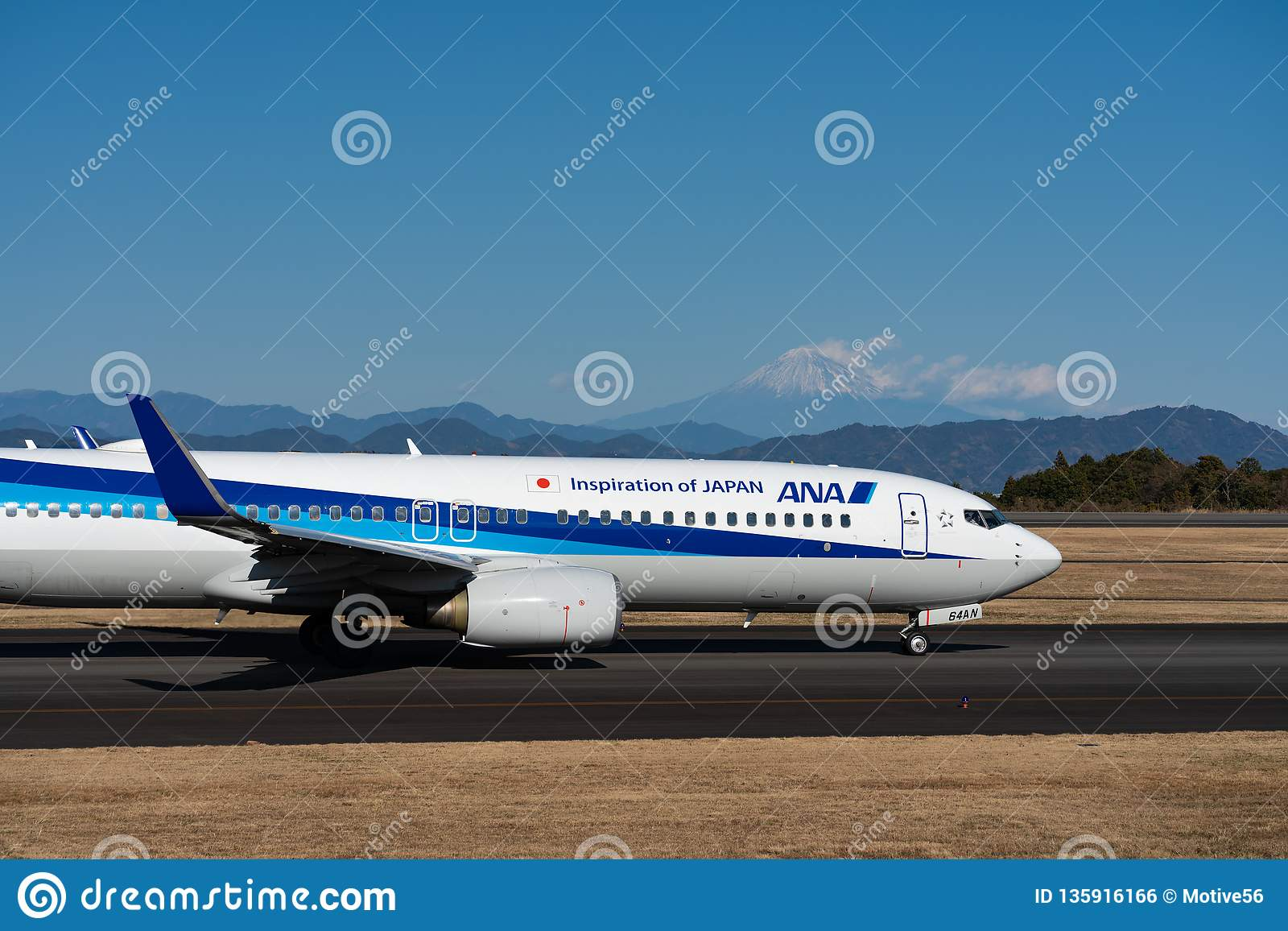 ANA Boeing 737-800 taxing