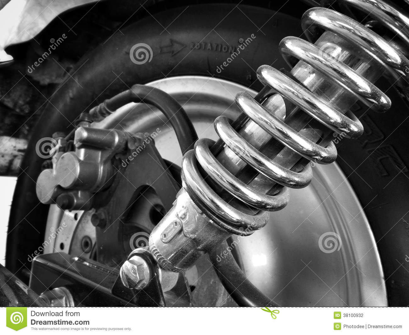 Shock Absorber Motorcycle Stock Photo Image Of Suppressor