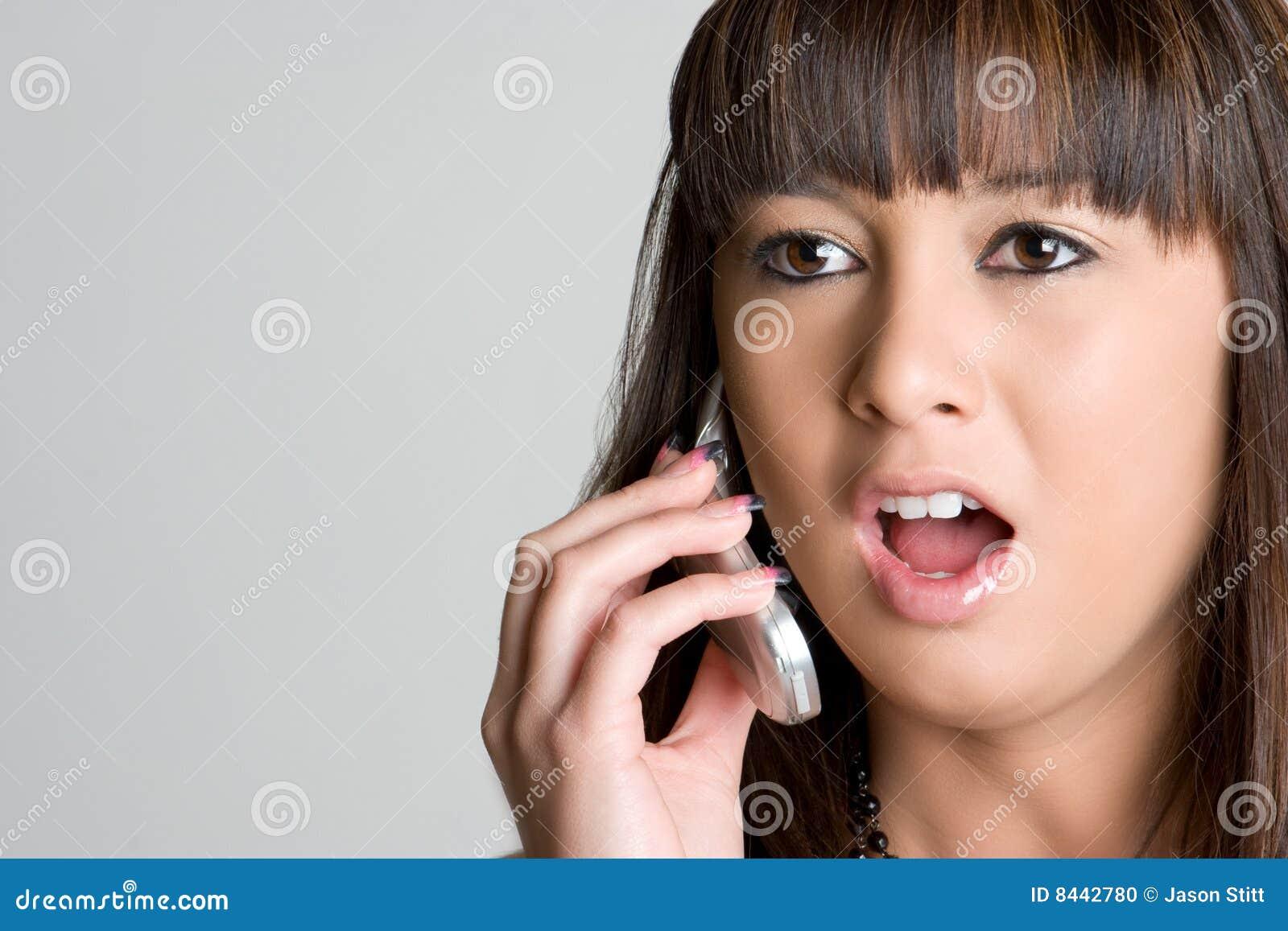 Shocked Asian Phone Girl