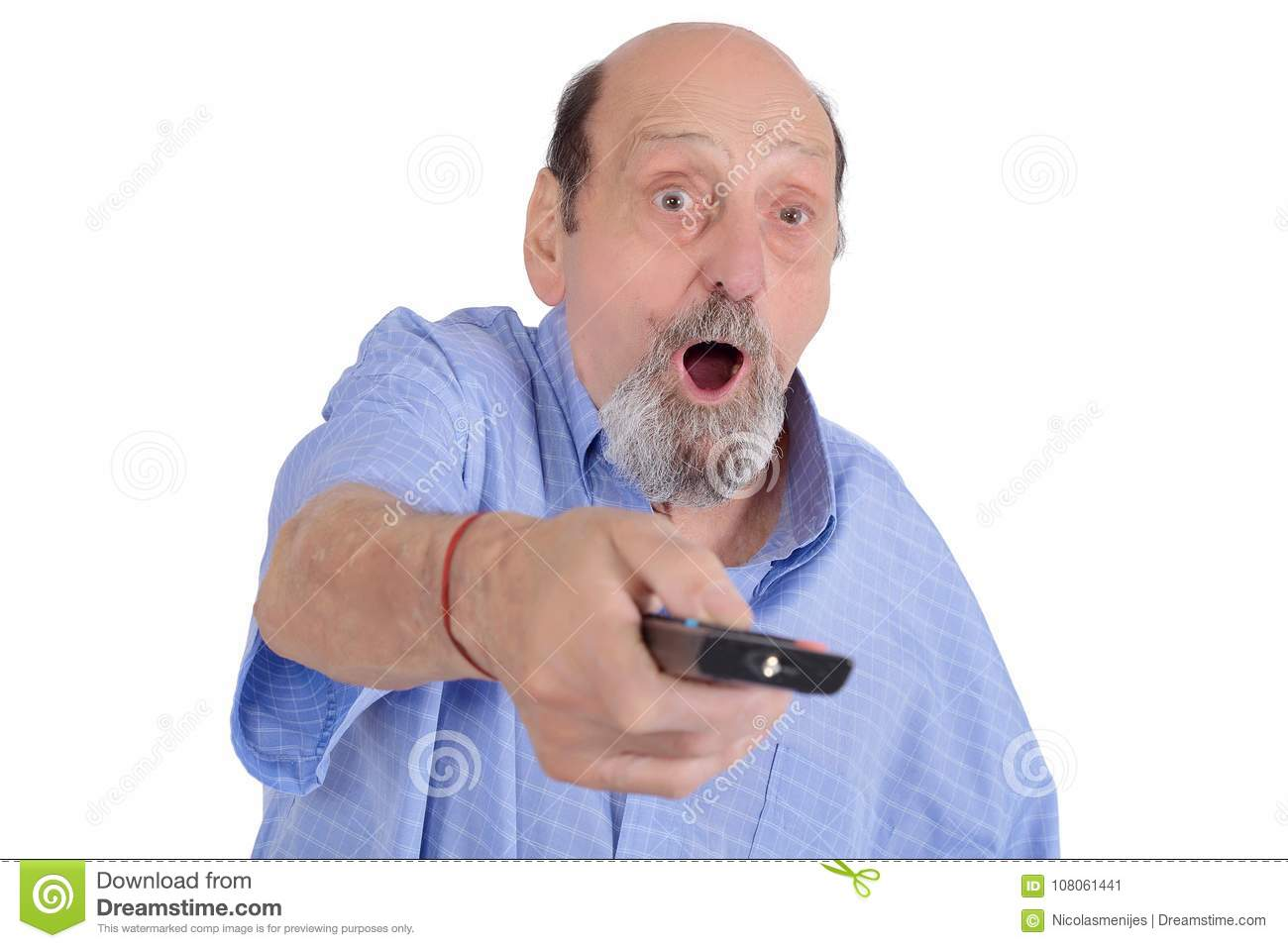 RV Seniors - Shocked By TV Content Stock Image - Image of