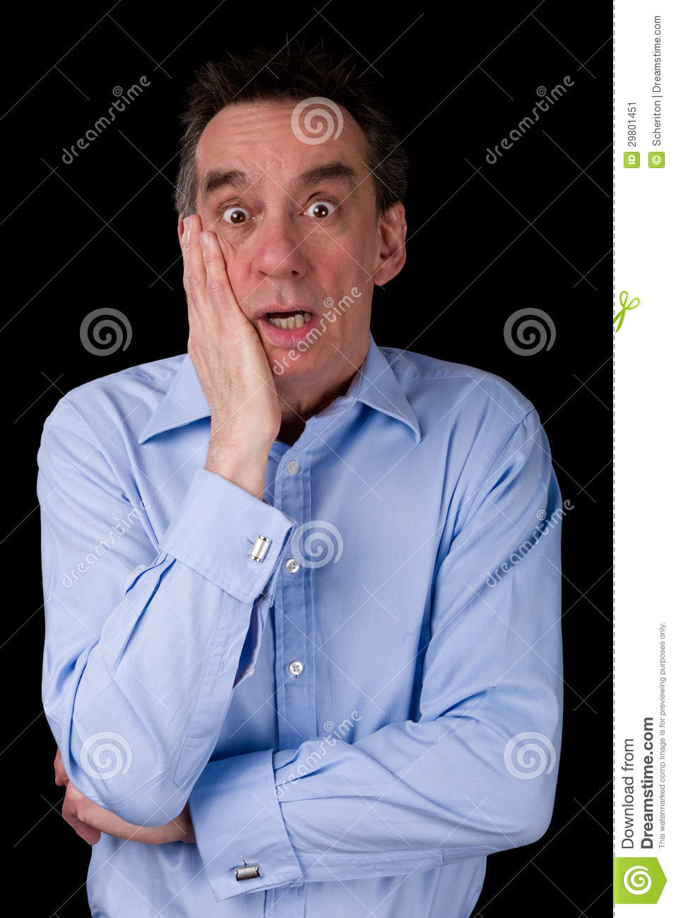 Download Shocked Surprised Business Man Hand To Face Stock Image - Image of black, grimace: 29801451