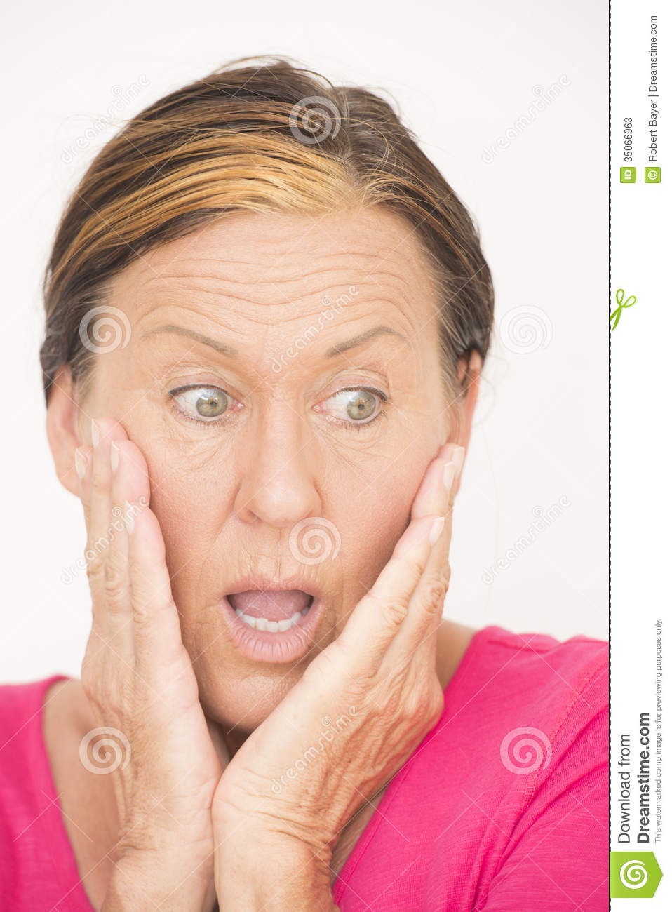 Shocked And Worried Woman Stock Photos - Image: 35066963