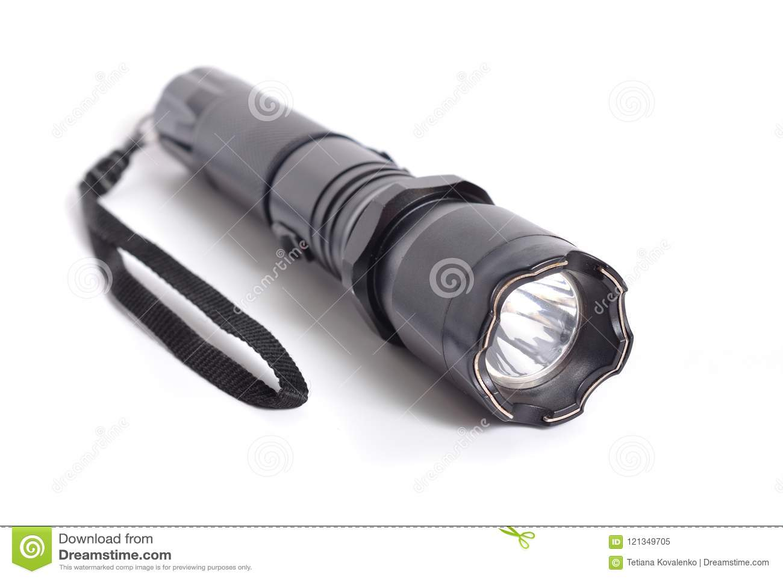 shocker taser means of self defense flashlight tazer isolated on