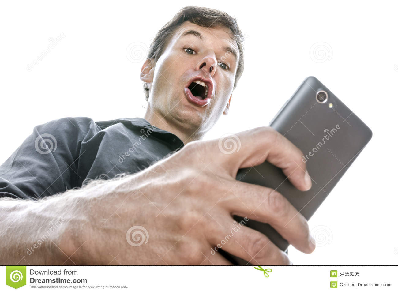 Shocking cell phone text message