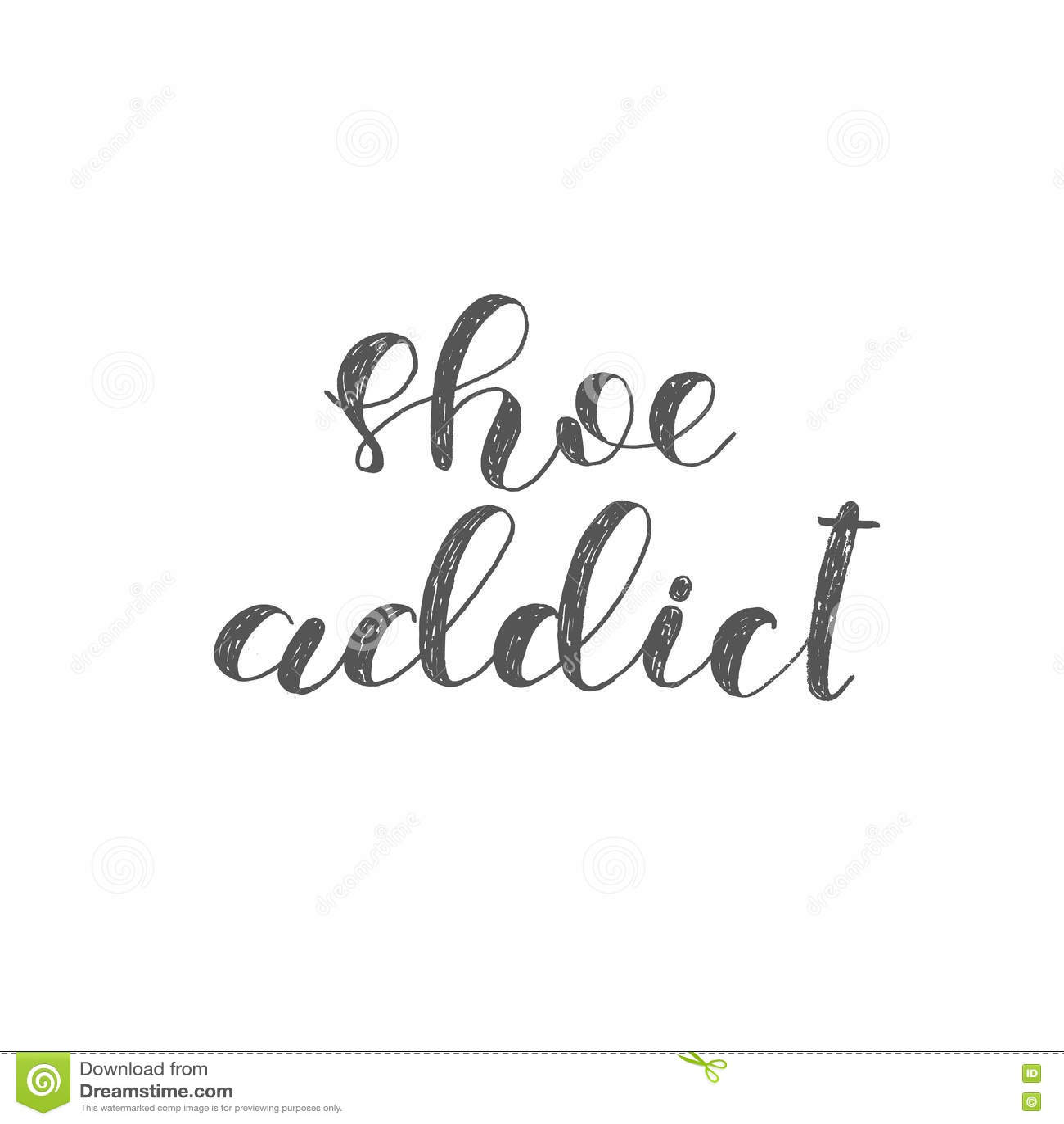 Download Shoe Addict Brush Lettering Stock Illustration