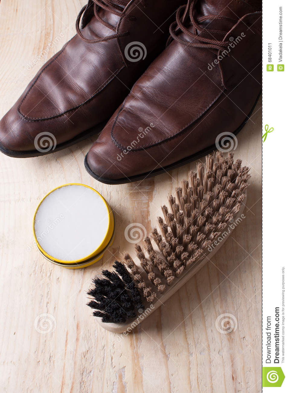 Waxing Leather Shoes