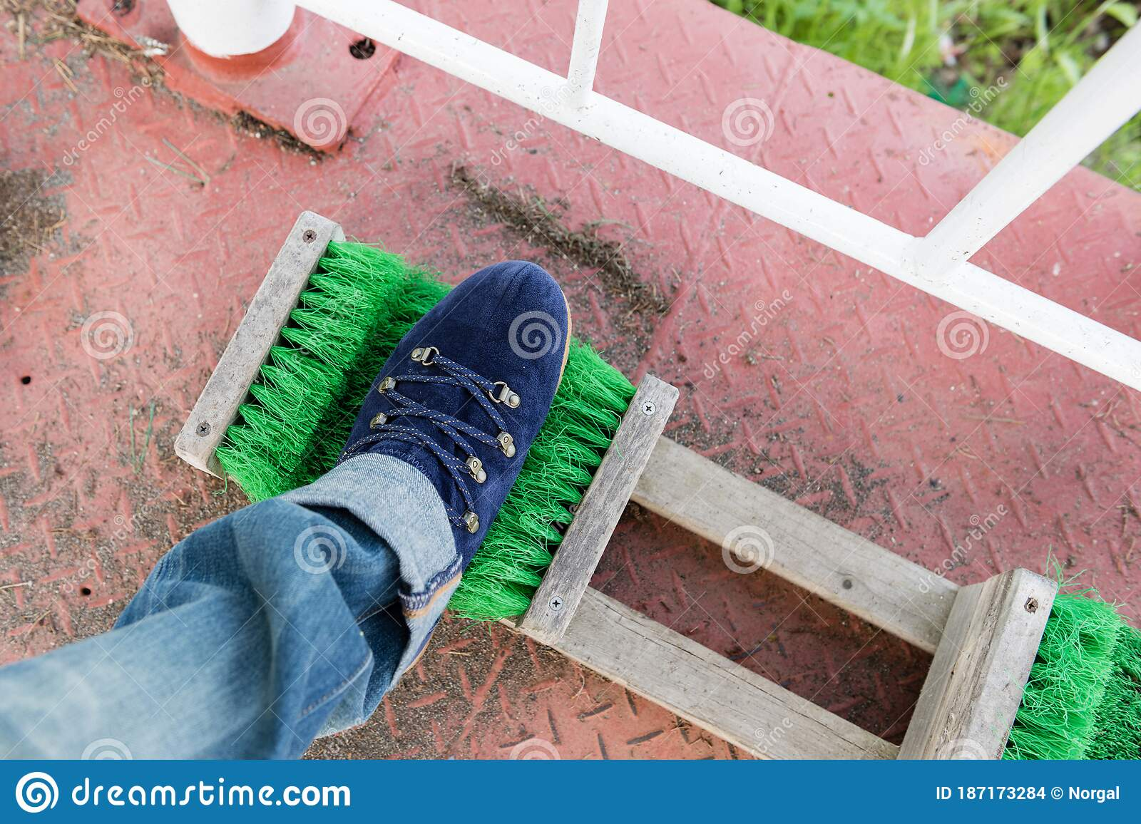 Shoe cleaner stock photo. Image of