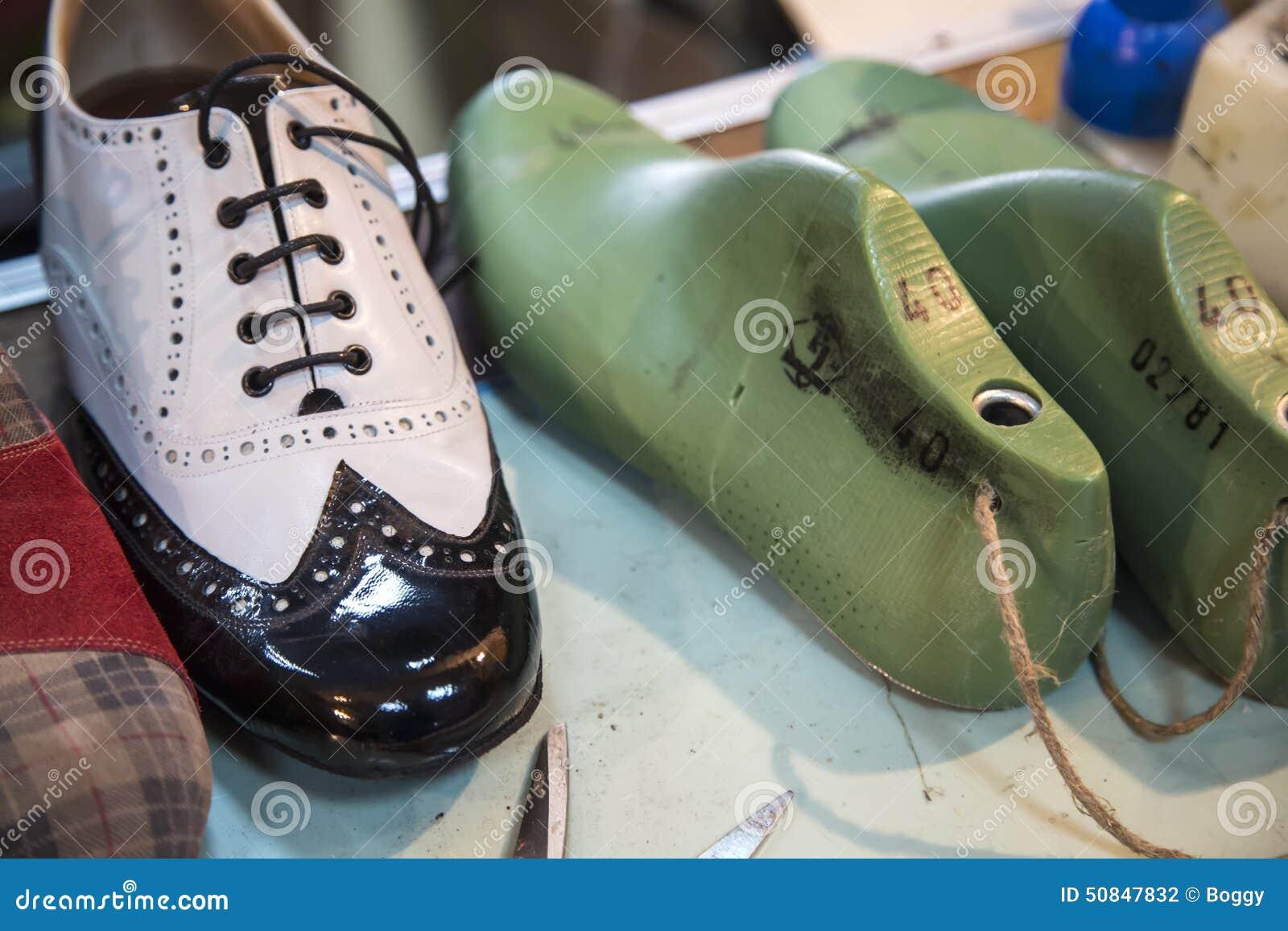 Shoe making stock photo  Image of handwork, hand, model - 50847832