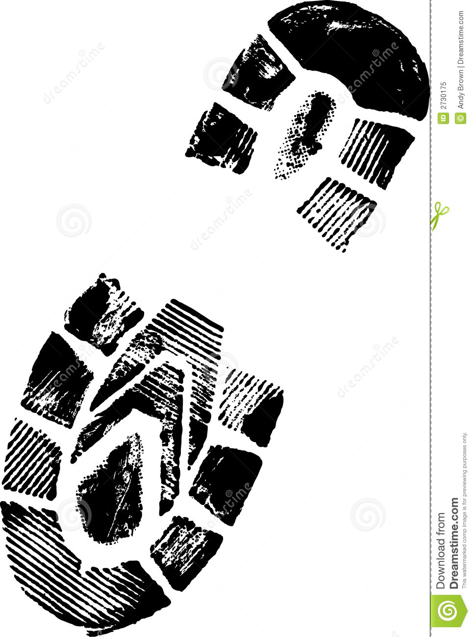 shoe print stock vector illustration of privacy swirls