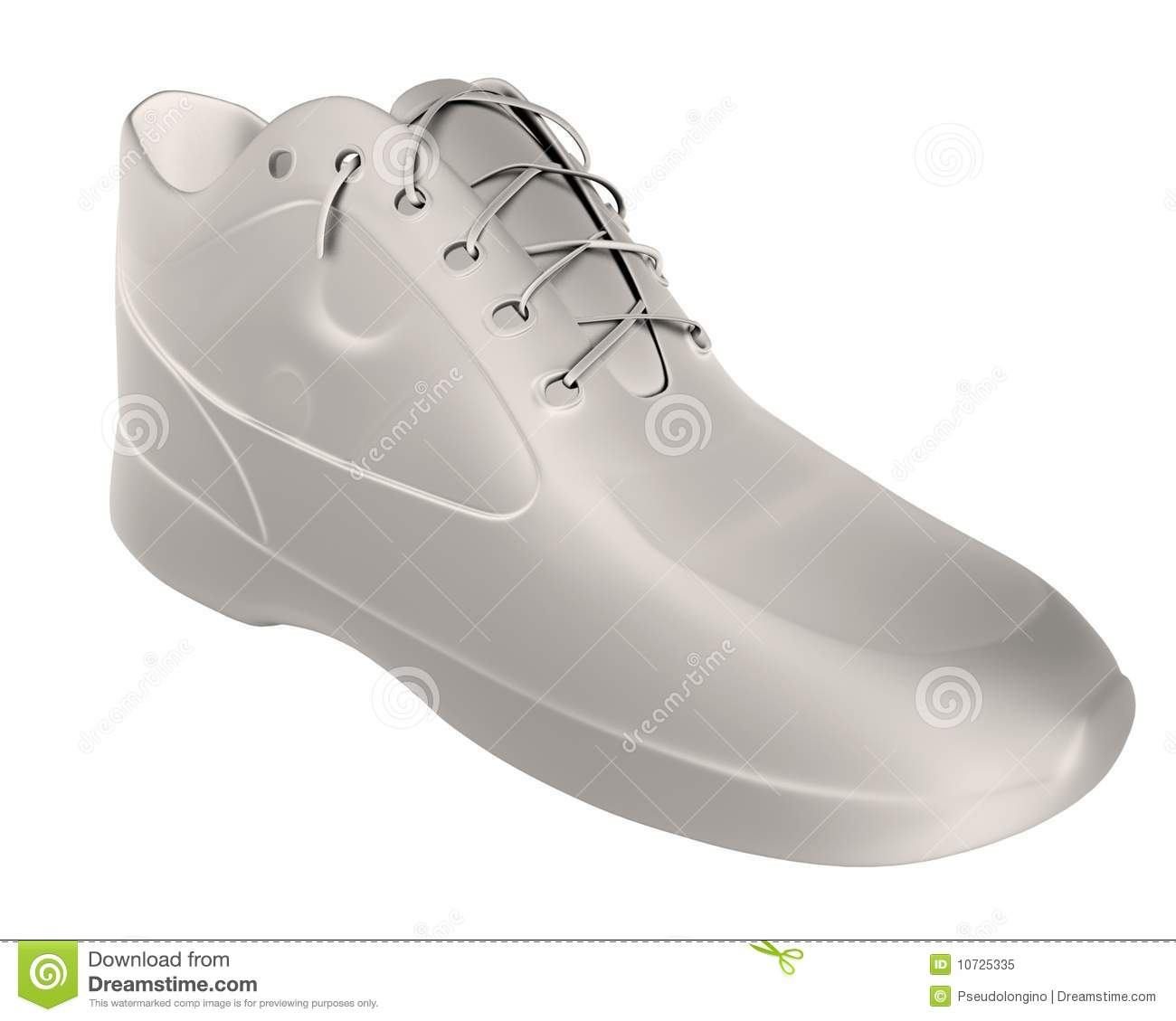 Shoe render stock illustration  Illustration of casual
