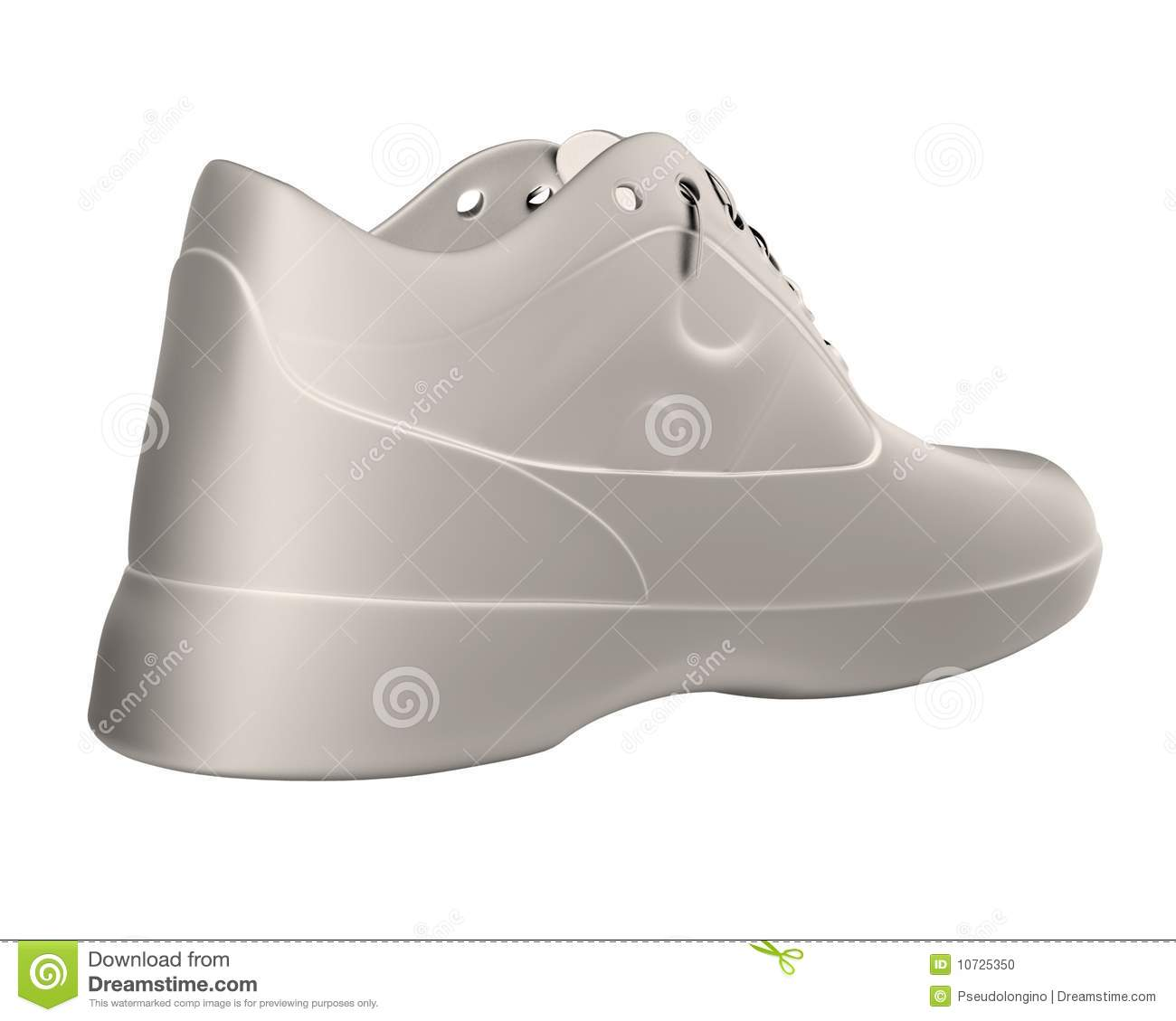 Shoe render stock illustration  Illustration of rendering
